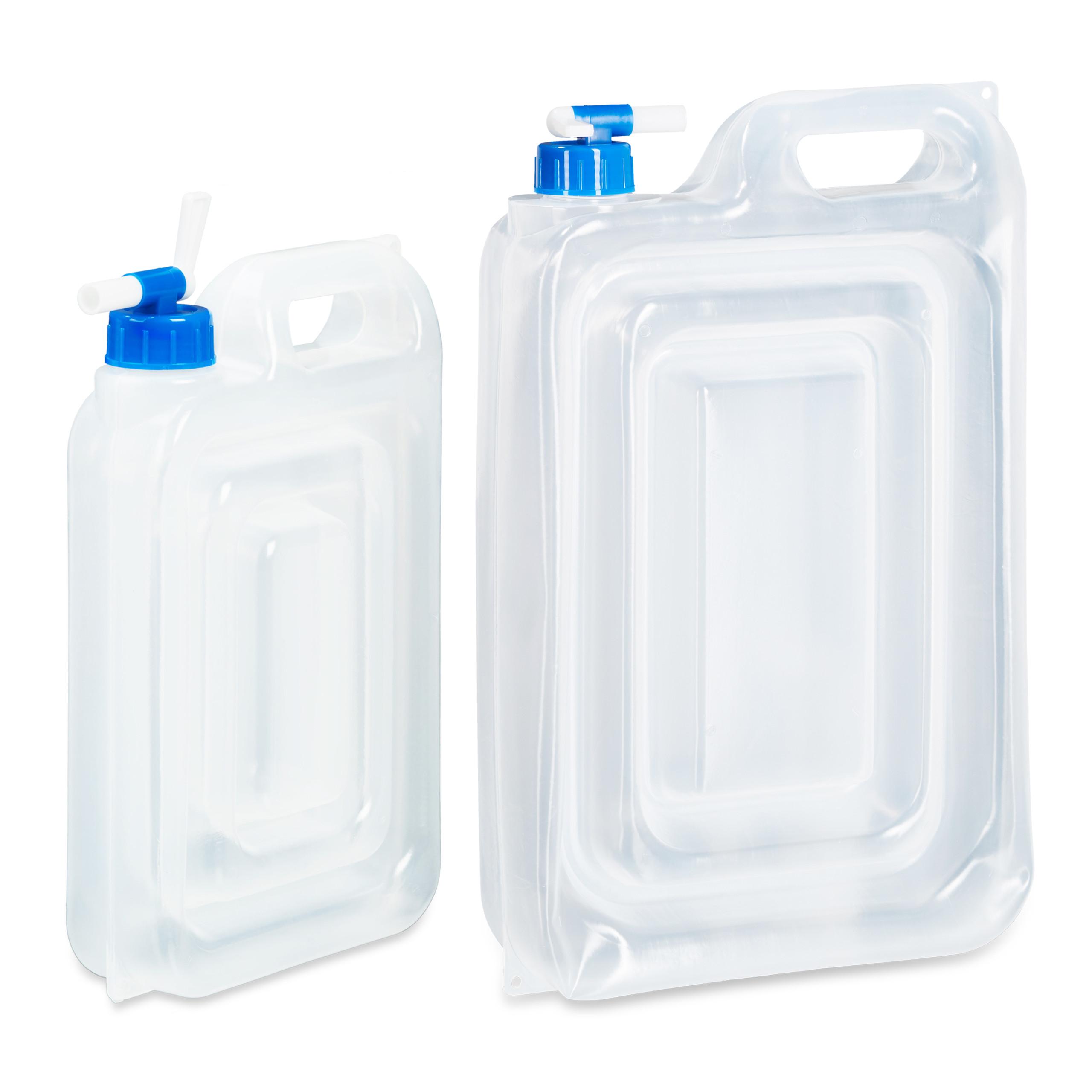 Wasserkanister Camping 4er Set Campingkanister mit Hahn Trinkwasser 15 L, 7,5 L