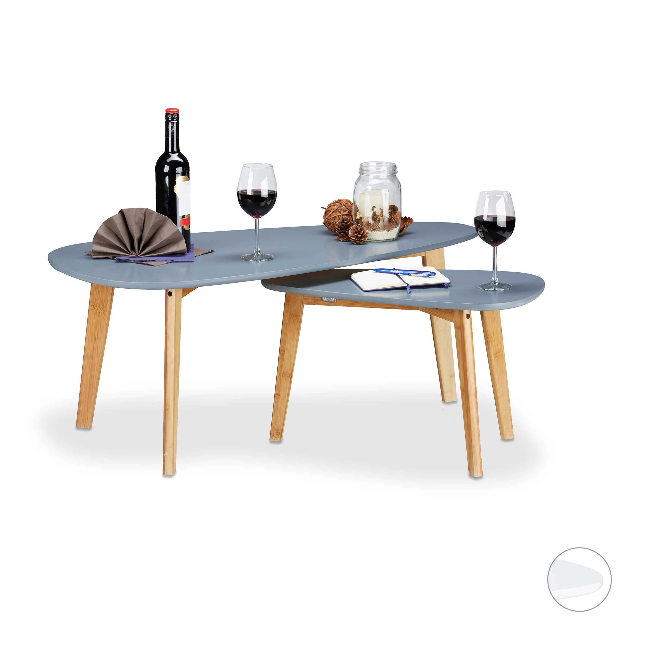 Tavoli sovrapponibili in legno, Tavolini salotto in stile nordico ...