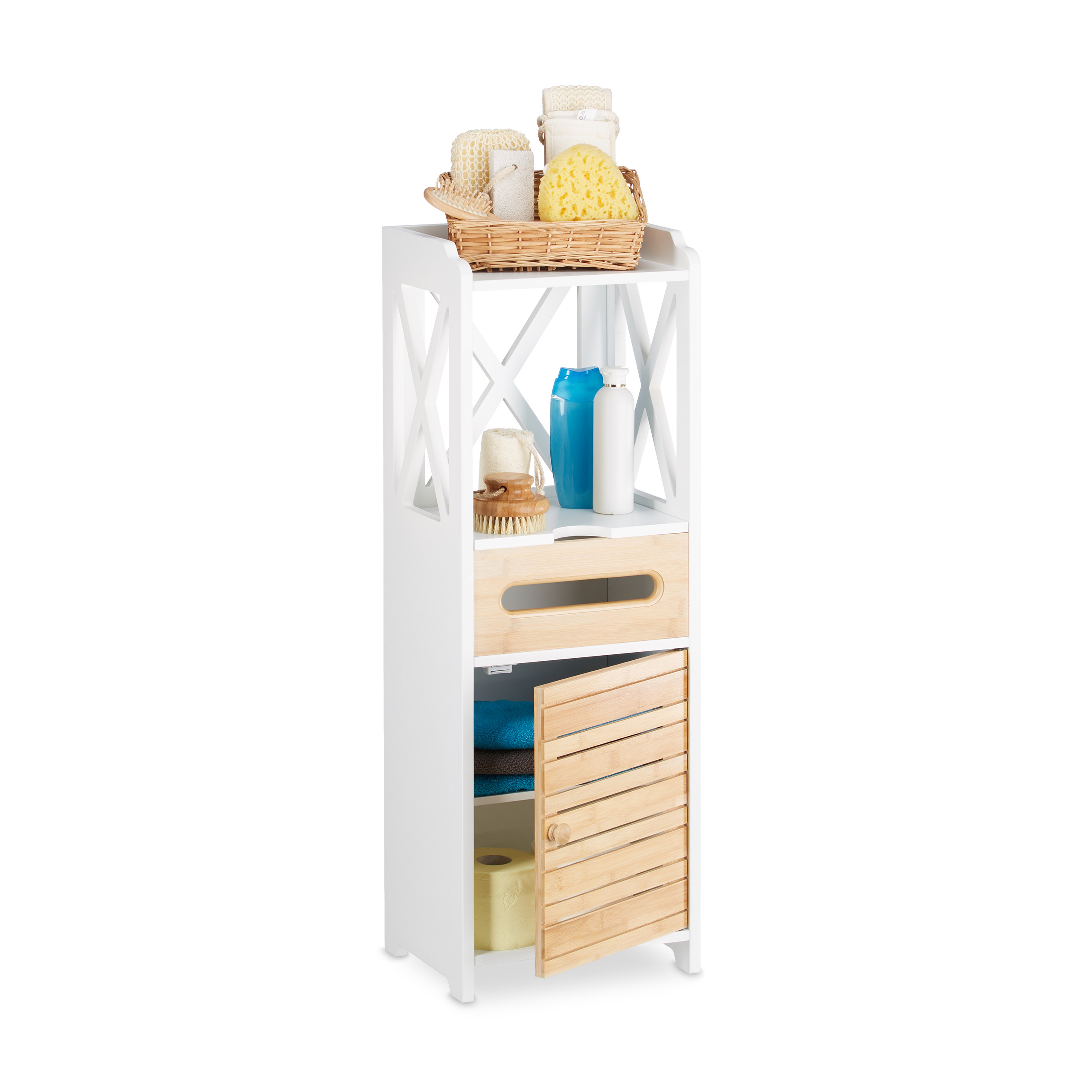 Beistellschrank Small Shelf Cabinet 5 Shelves Multi Purpose