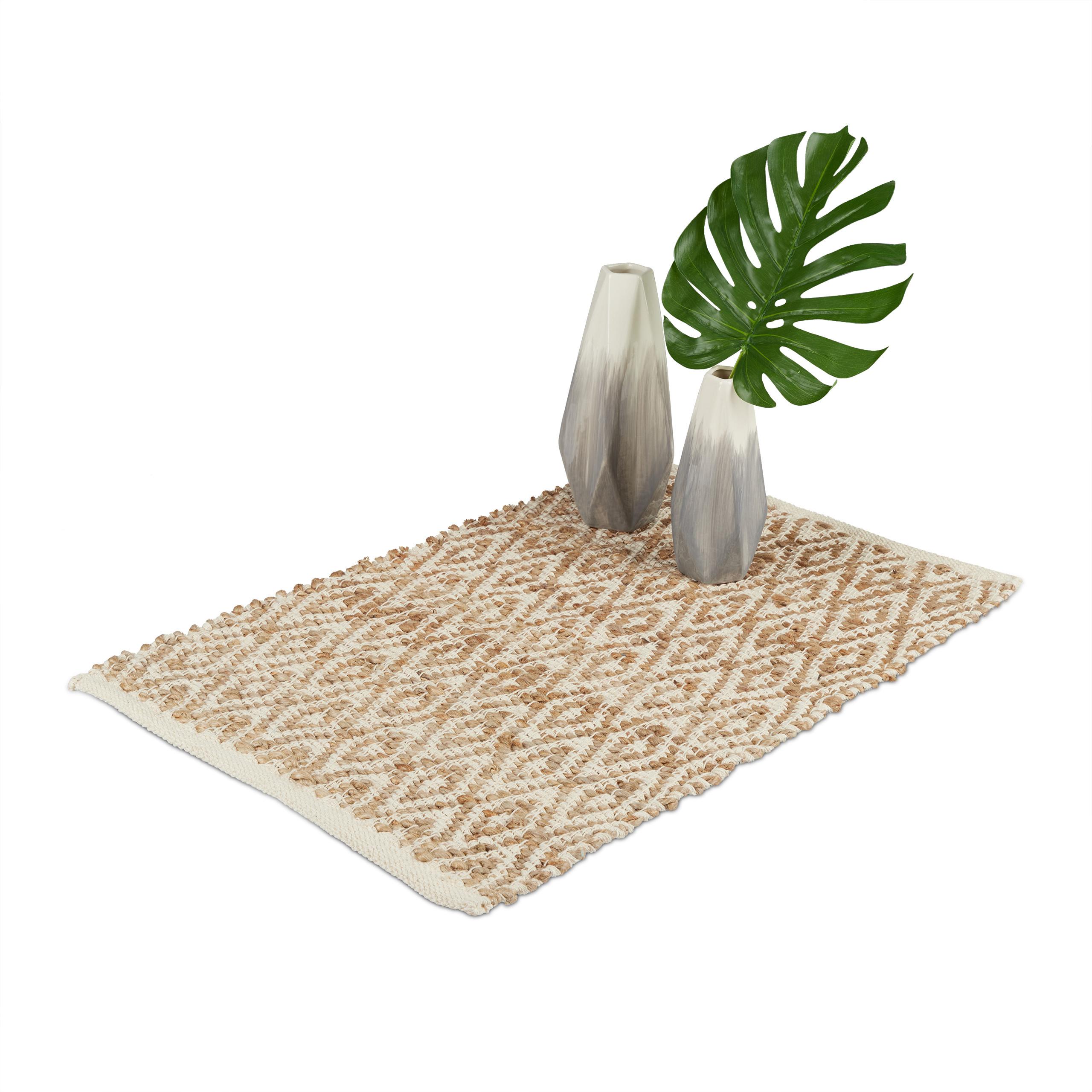 Teppich-Jute-Teppichlaeufer-Natur-Faser-braun-Handarbeit-Flur-Laeufer-gewebt