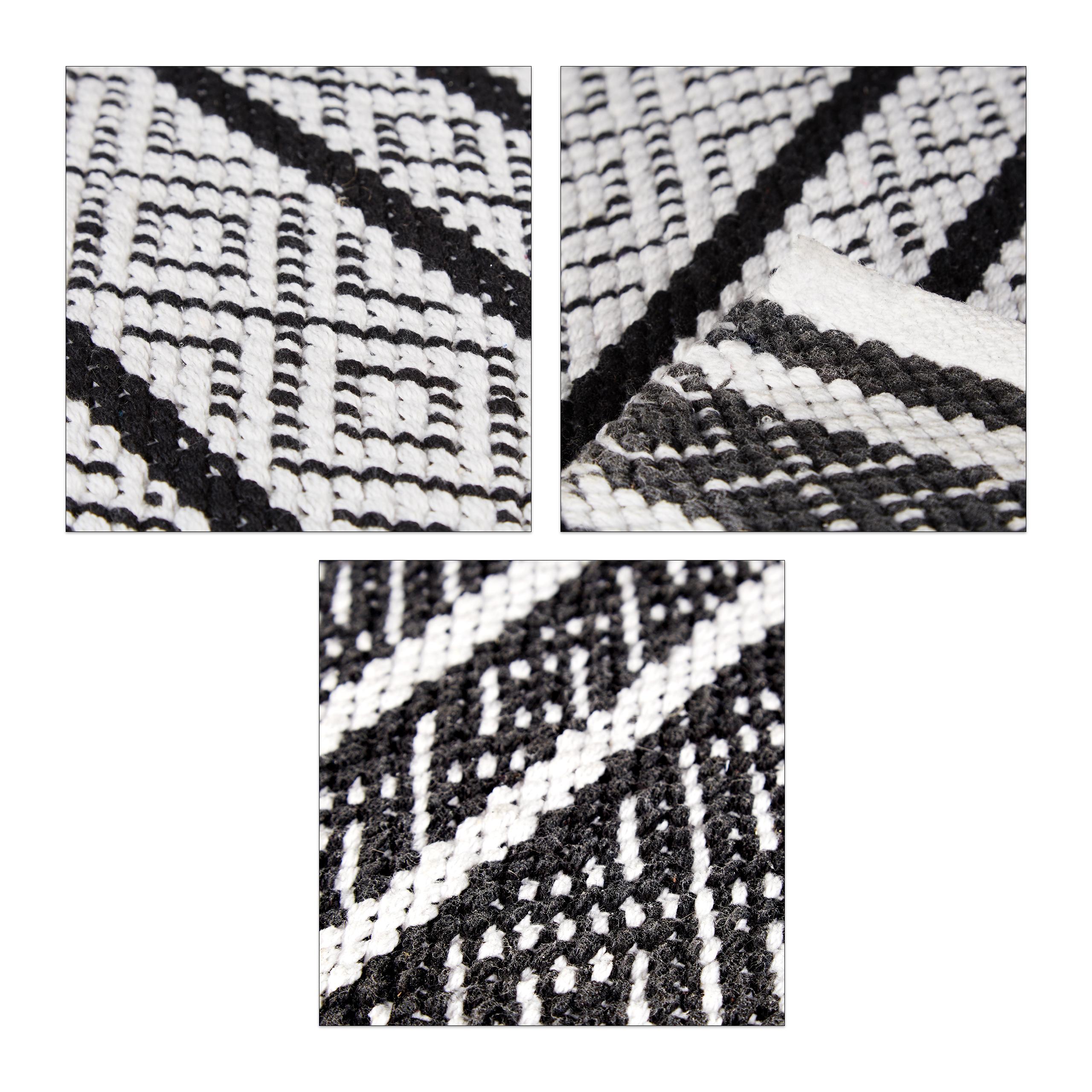 teppich l ufer flur 80x200 70x140 schwarz wei handarbeit baumwolle gewebt ebay. Black Bedroom Furniture Sets. Home Design Ideas