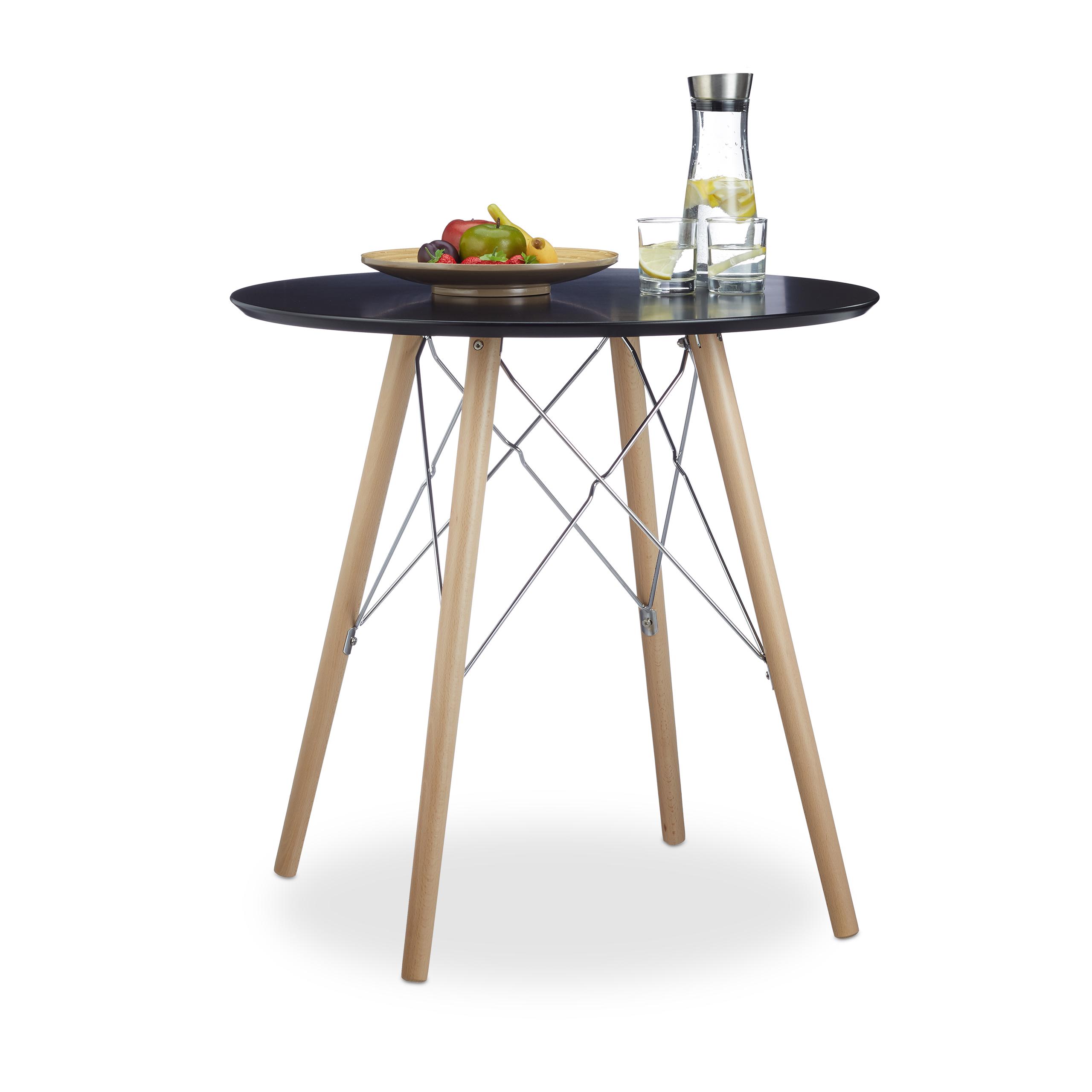 Küchentisch klein, Esstisch rund, nordischer Stil Holztisch, kleine ...