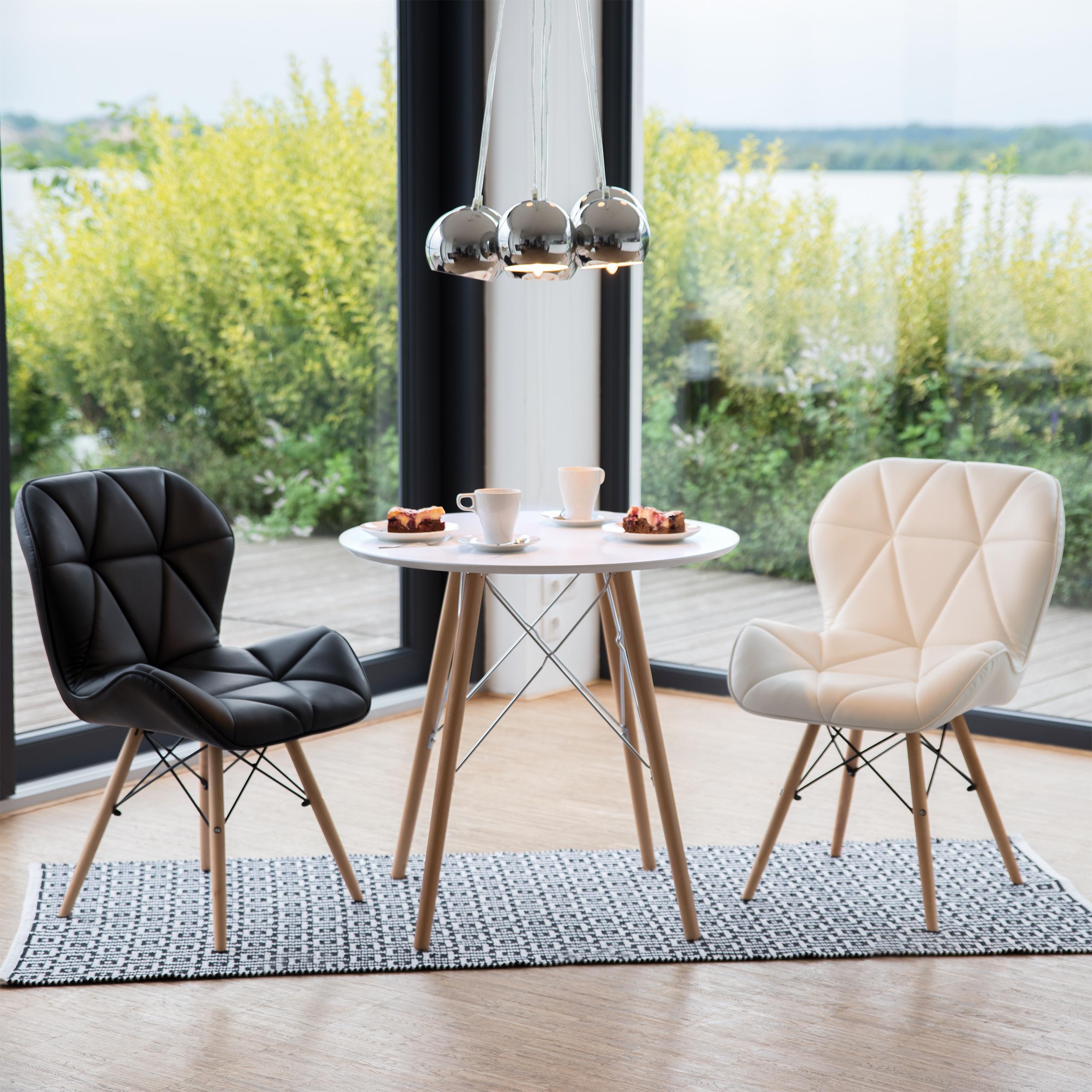 Details zu Küchentisch klein, Esstisch rund, nordischer Stil Holztisch,  kleine Küche Tisch