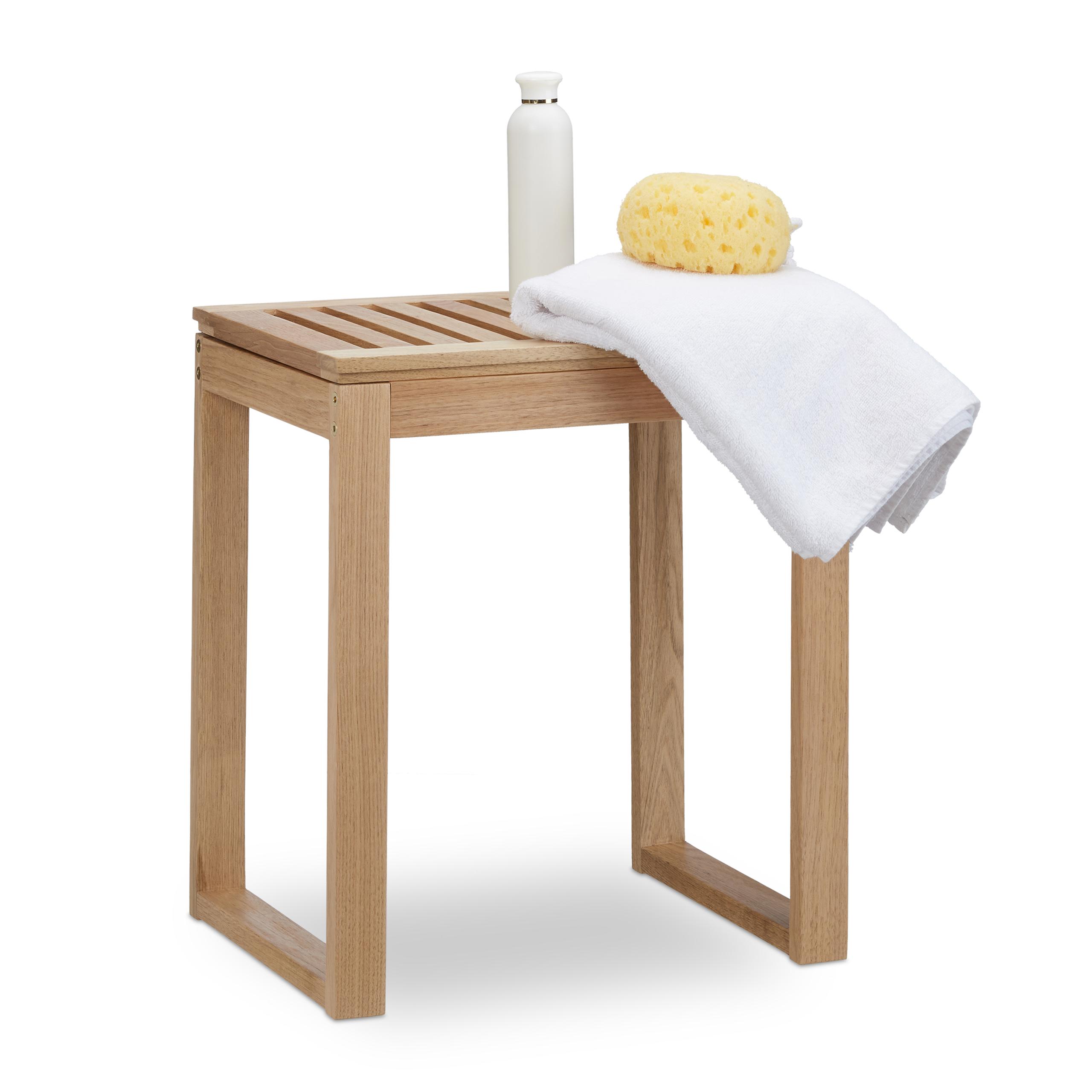 Taburete-de-madera-Banqueta-de-nogal-Para-el-bano-Ninos-Bajo-Estilo-rural