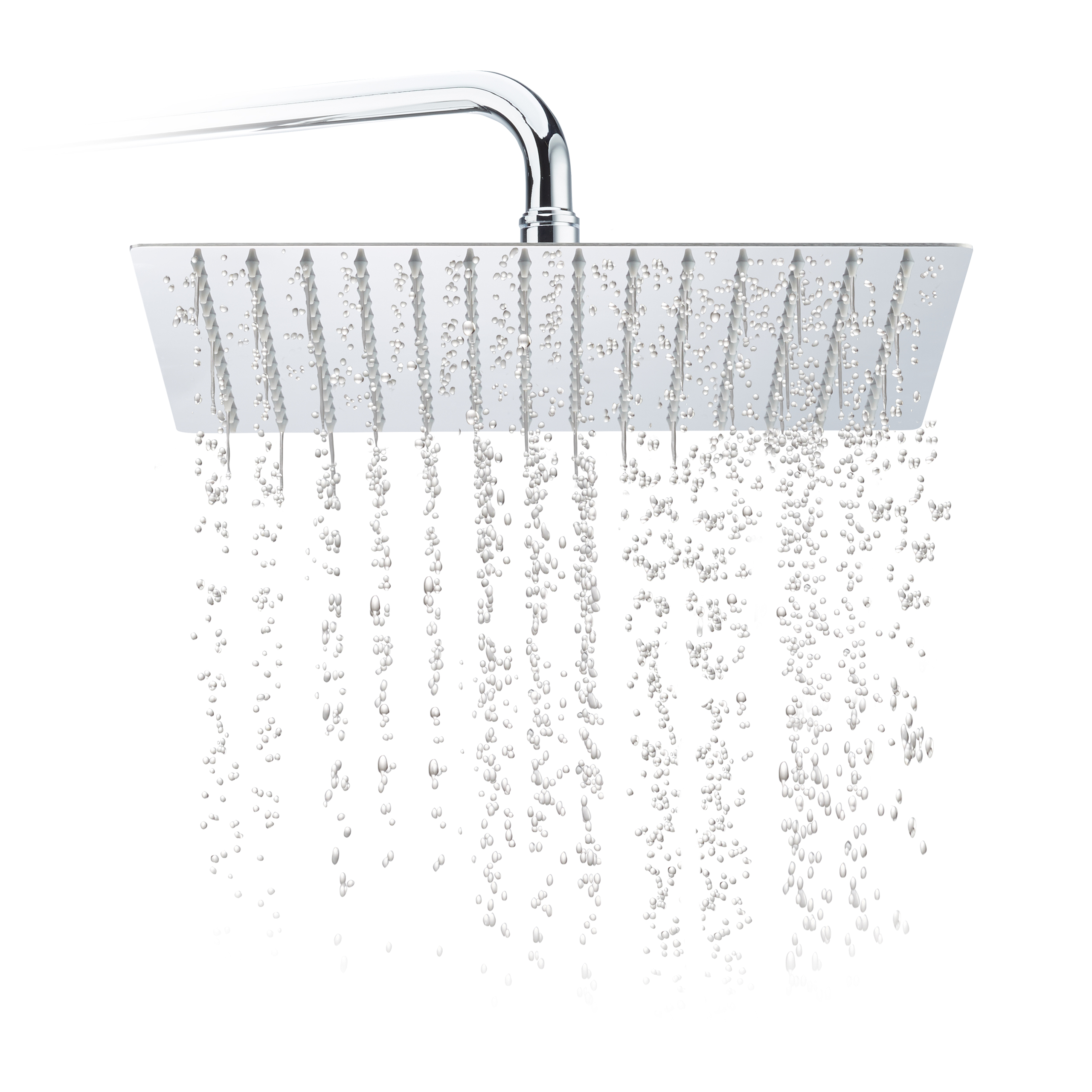 Rainfall-Shower-Head-Square-Stainless-Steel-Rain-Effect-200-300-mm-Silver