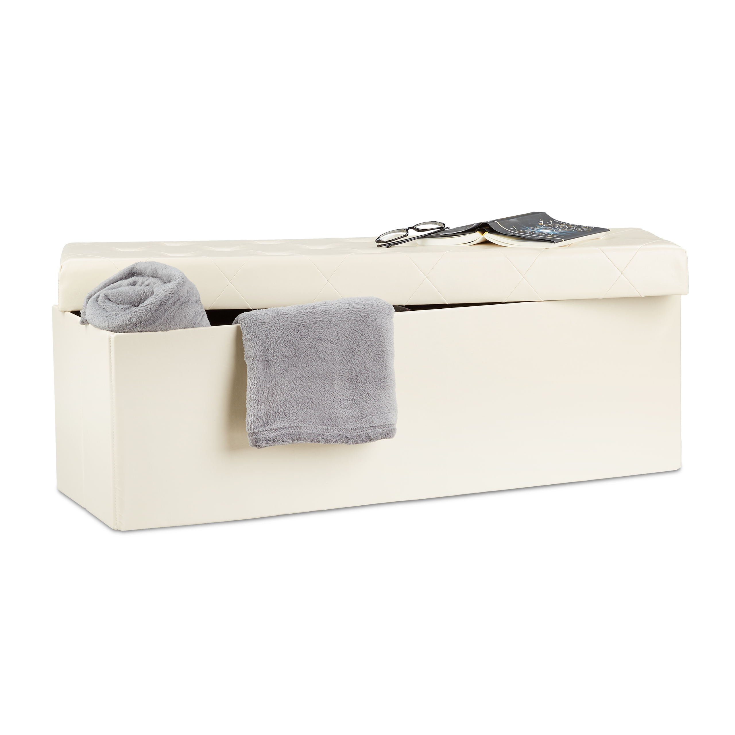 Folding-Faux-Leather-Storage-Ottoman-Bench-Padded-Seat-Footstool-Living-Room