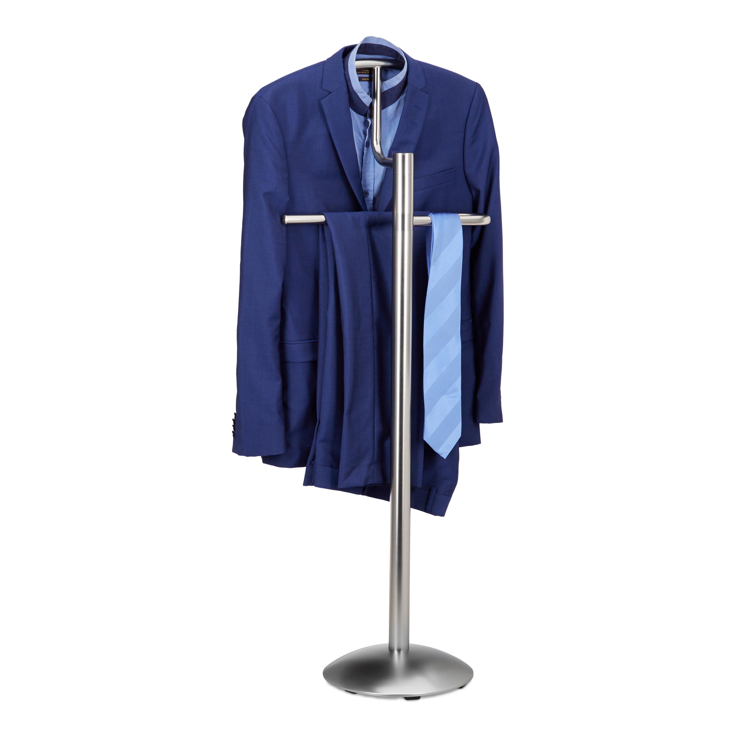 Détails sur Valet de chambre portant à vêtements serviteur de chambre  design argenté