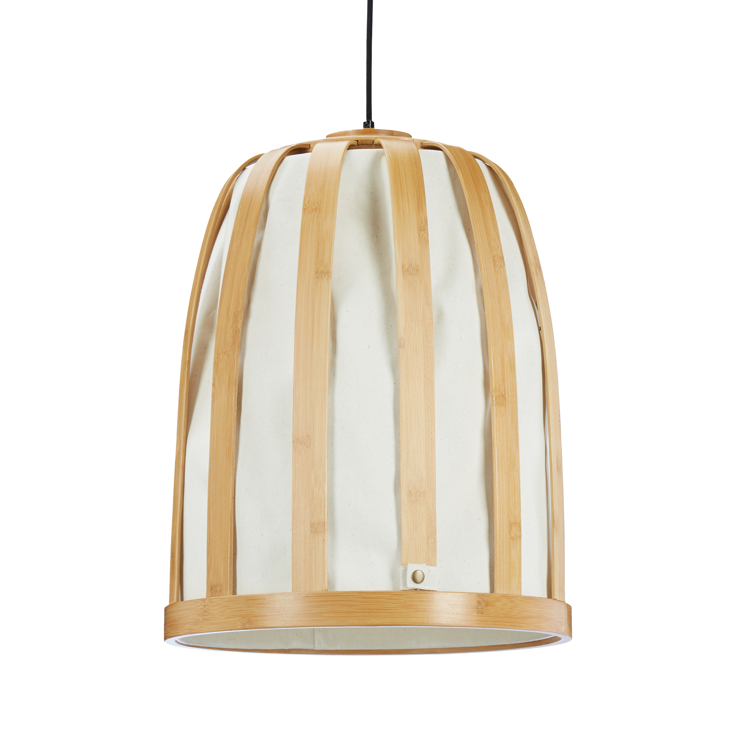 Hangelampe Bambus Gitter Mit Stoff Lampenschirm Grosse Deckenlampe