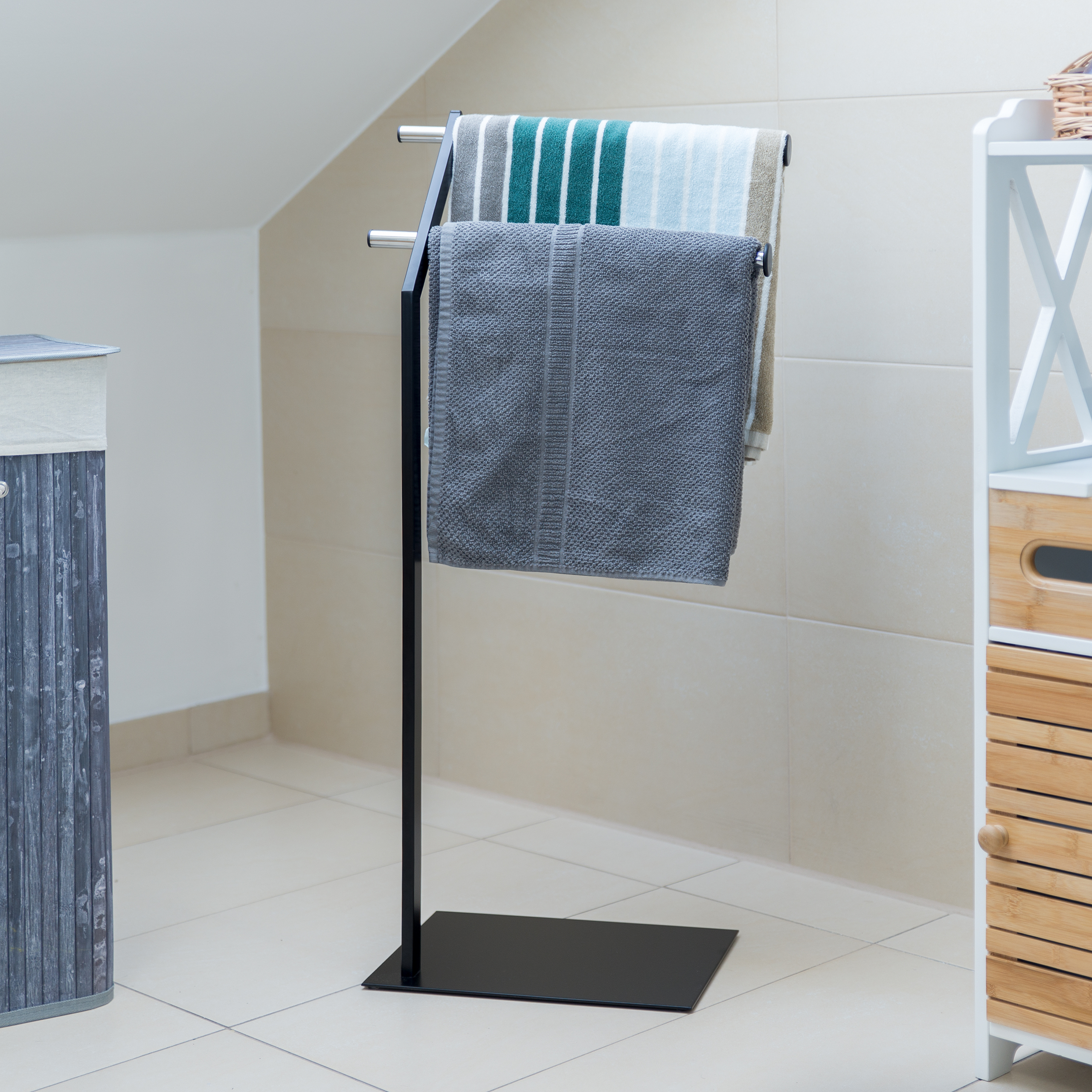 Handtuchhalter freistehend verchromt Handtuchstangen