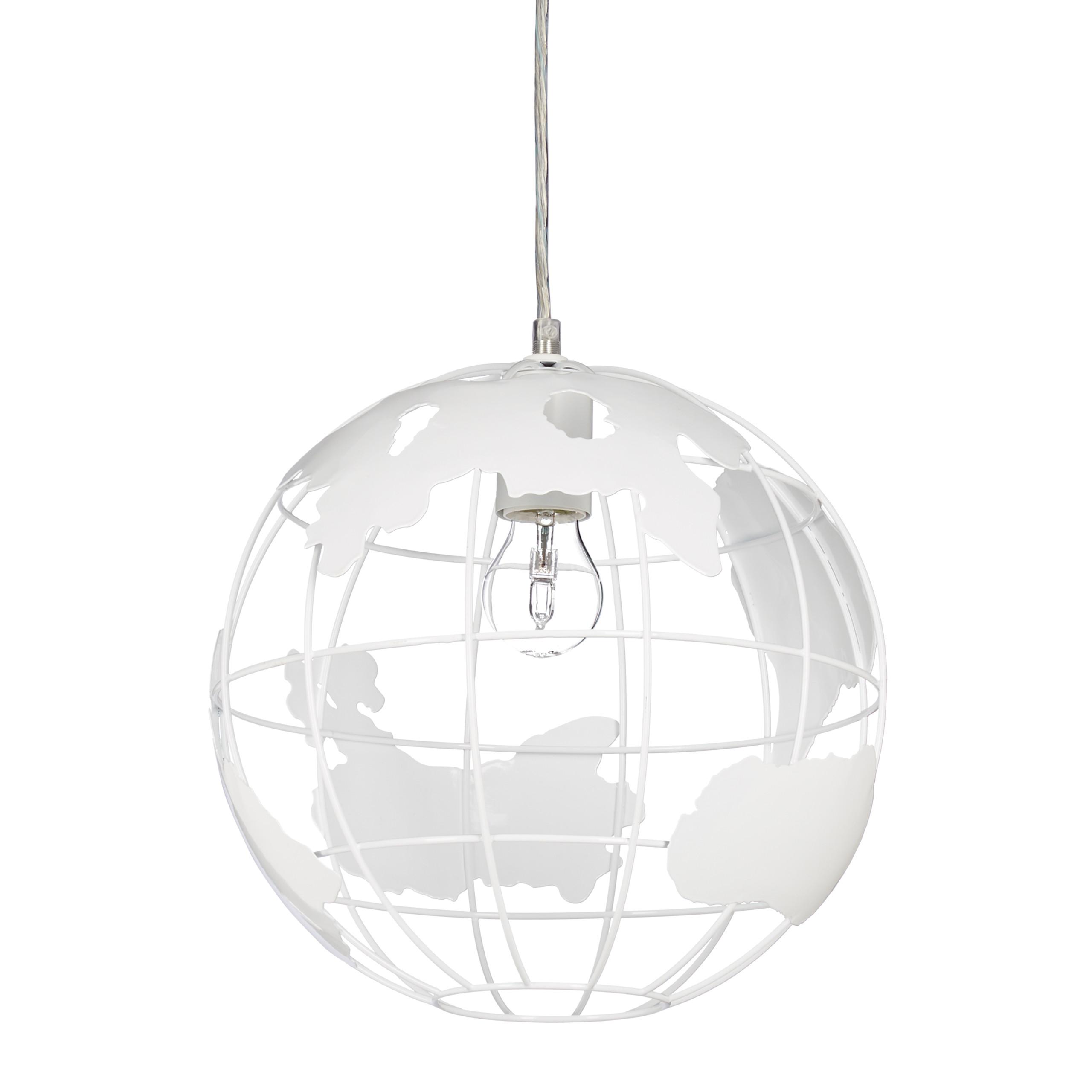 Détails sur Lampe à suspension abat-jour boule globe monde métal luminaire  plafond