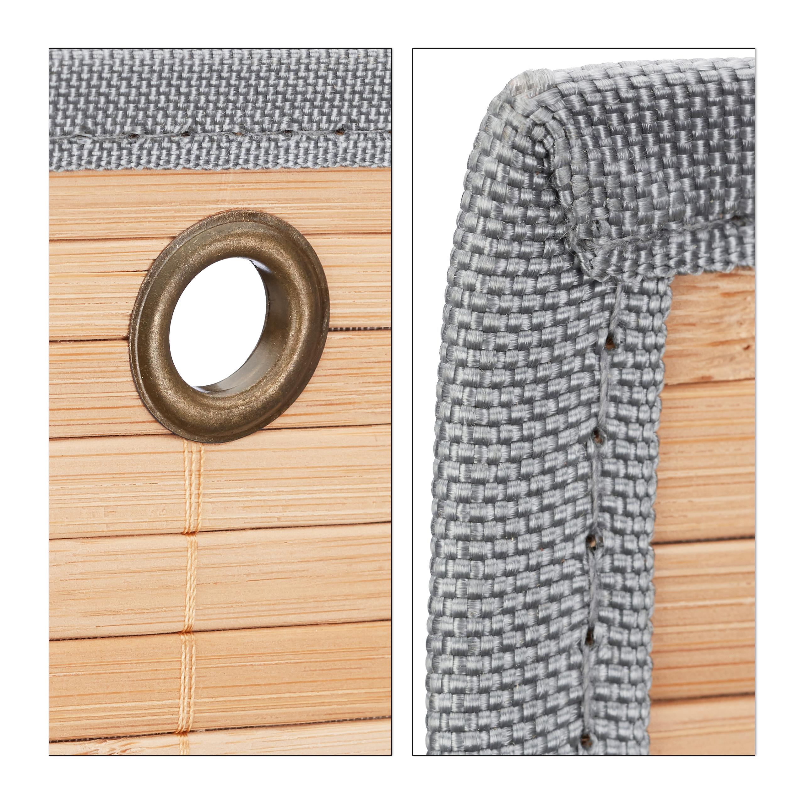 miniatura 4 - Tasca portaoggetti da parete, bagno, cameretta, guardaroba, pieghevole, grigio