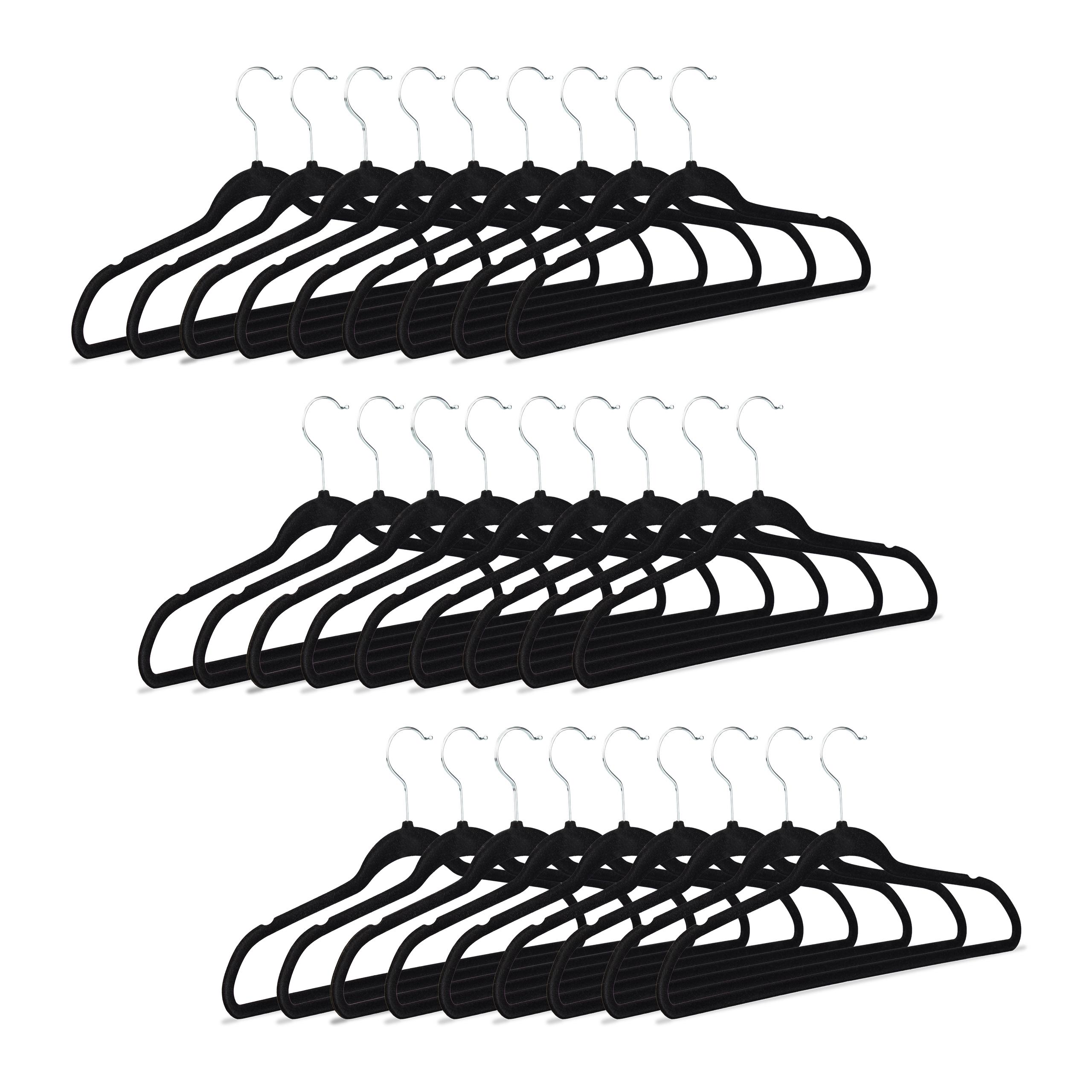 Perchas-color-negro-Perchas-para-pantalones-y-faldas-Packs-antideslizantes