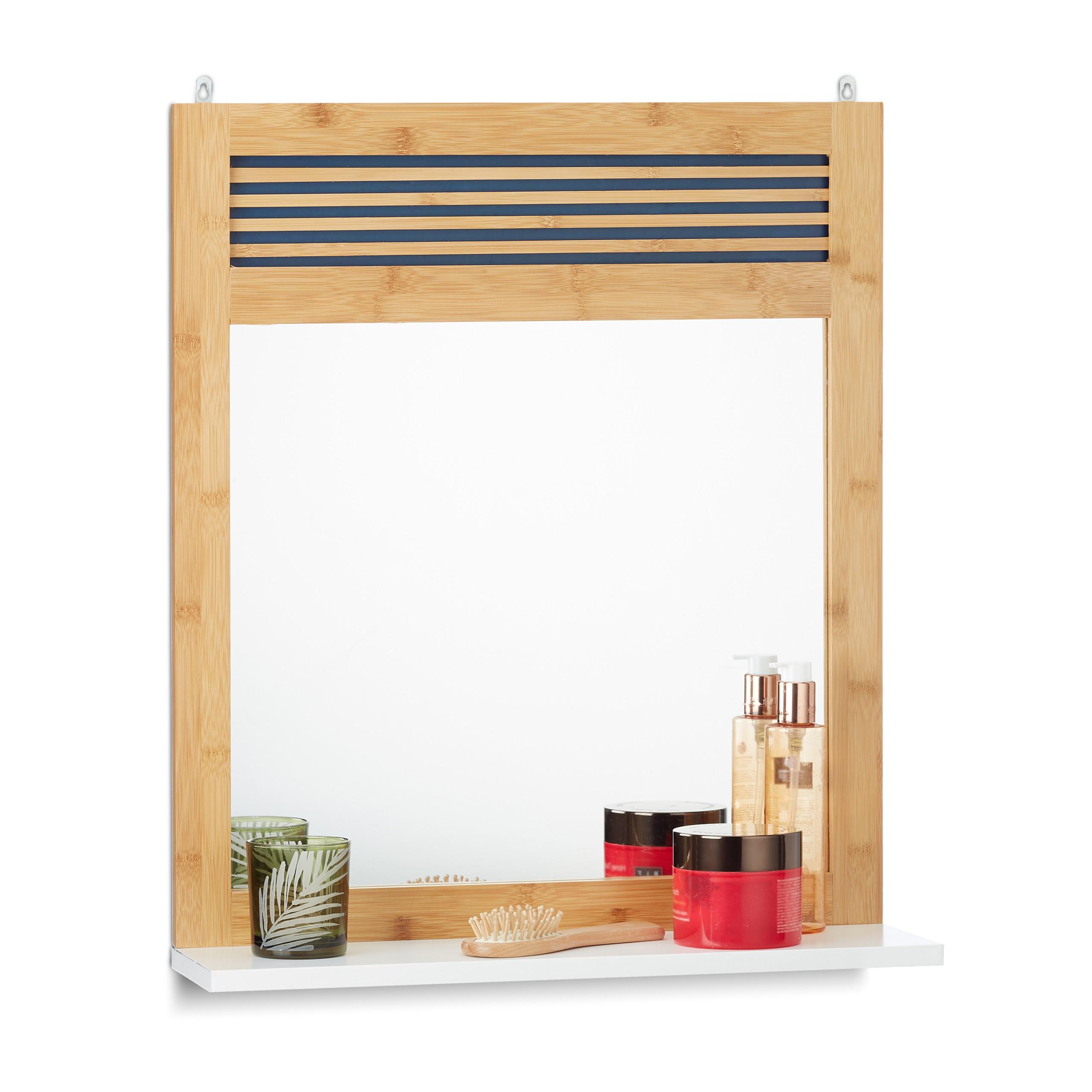 badspiegel mit ablage wandspiegel badezimmerspiegel garderobenspiegel spiegel ebay. Black Bedroom Furniture Sets. Home Design Ideas