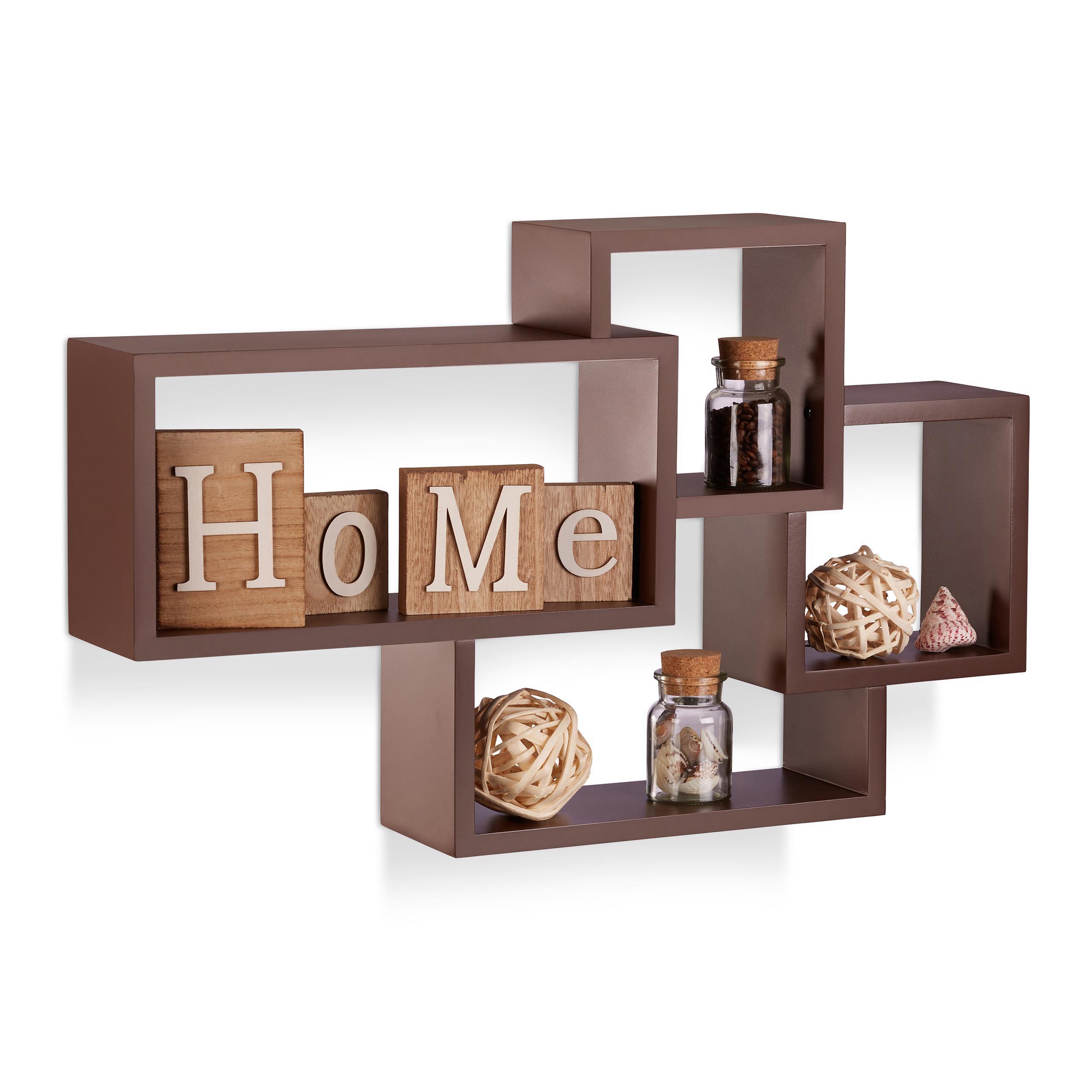 Dettagli su Mensole da muro Cube, cubi da parete soggiorno, legno, design  moderno, porta-CD