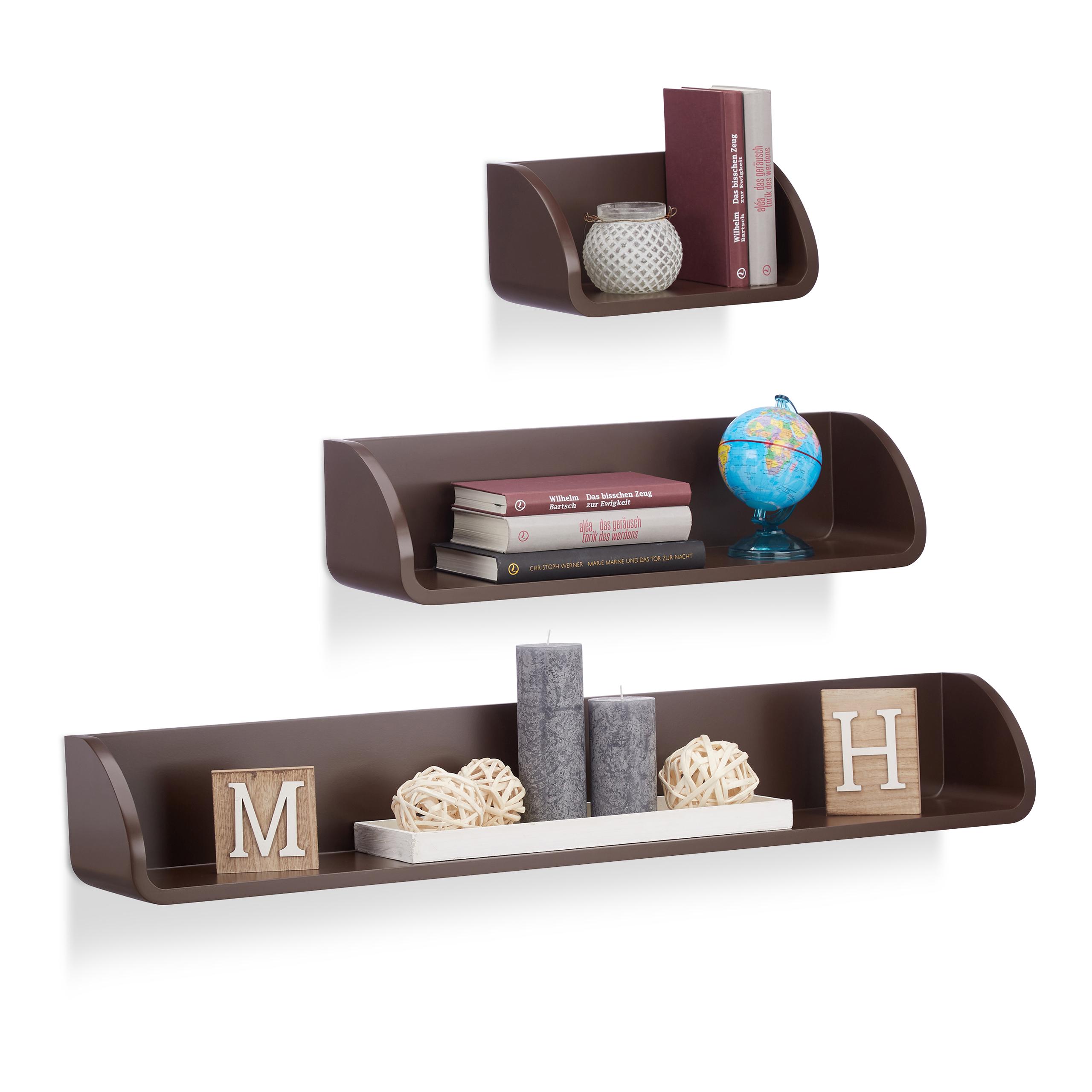 Set da 3 mensole decorative da parete, design moderno per soggiorno ...