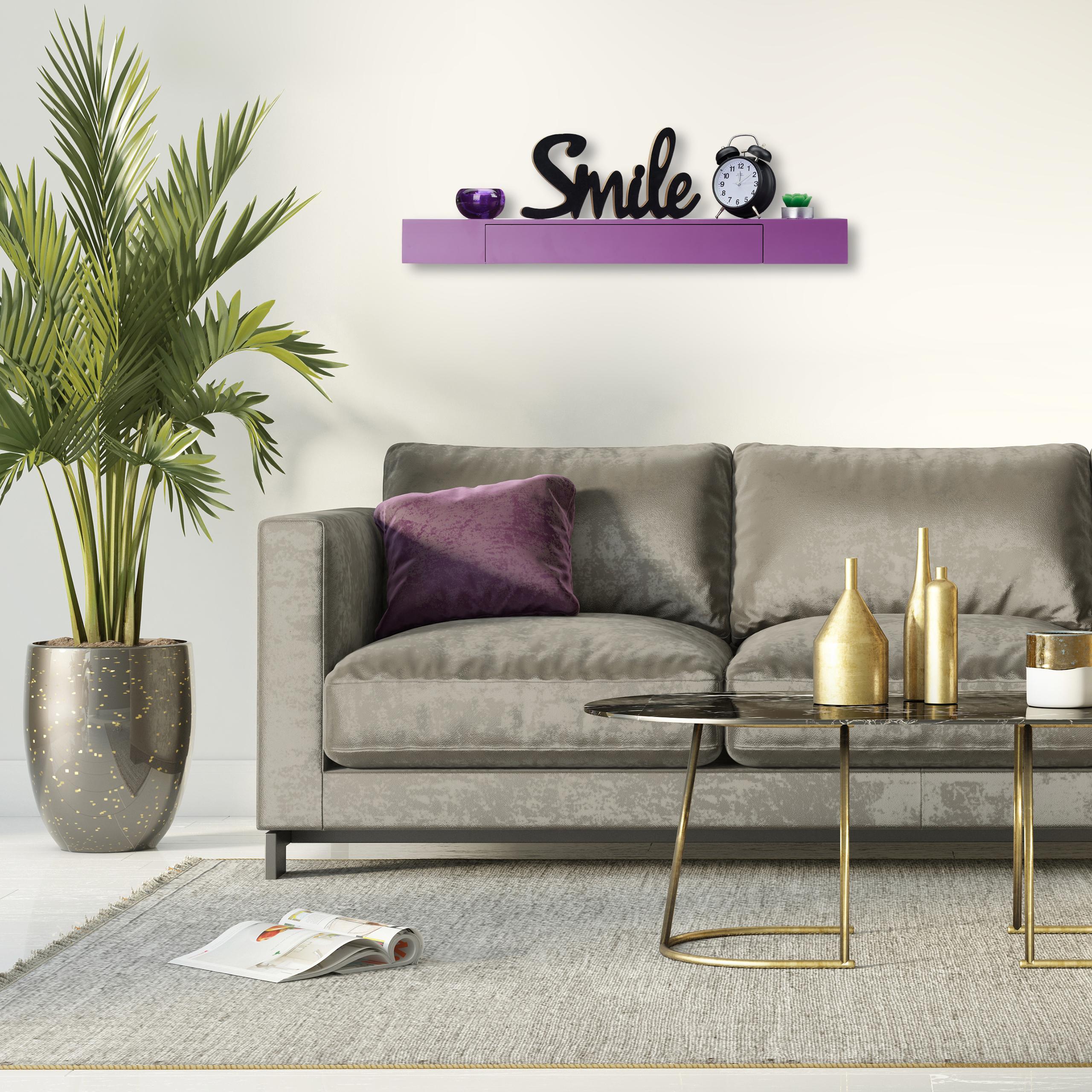Wandregal-mit-Schublade-freischwebend-Design-Deko-Wohnzimmer-modern-Ablage Indexbild 20