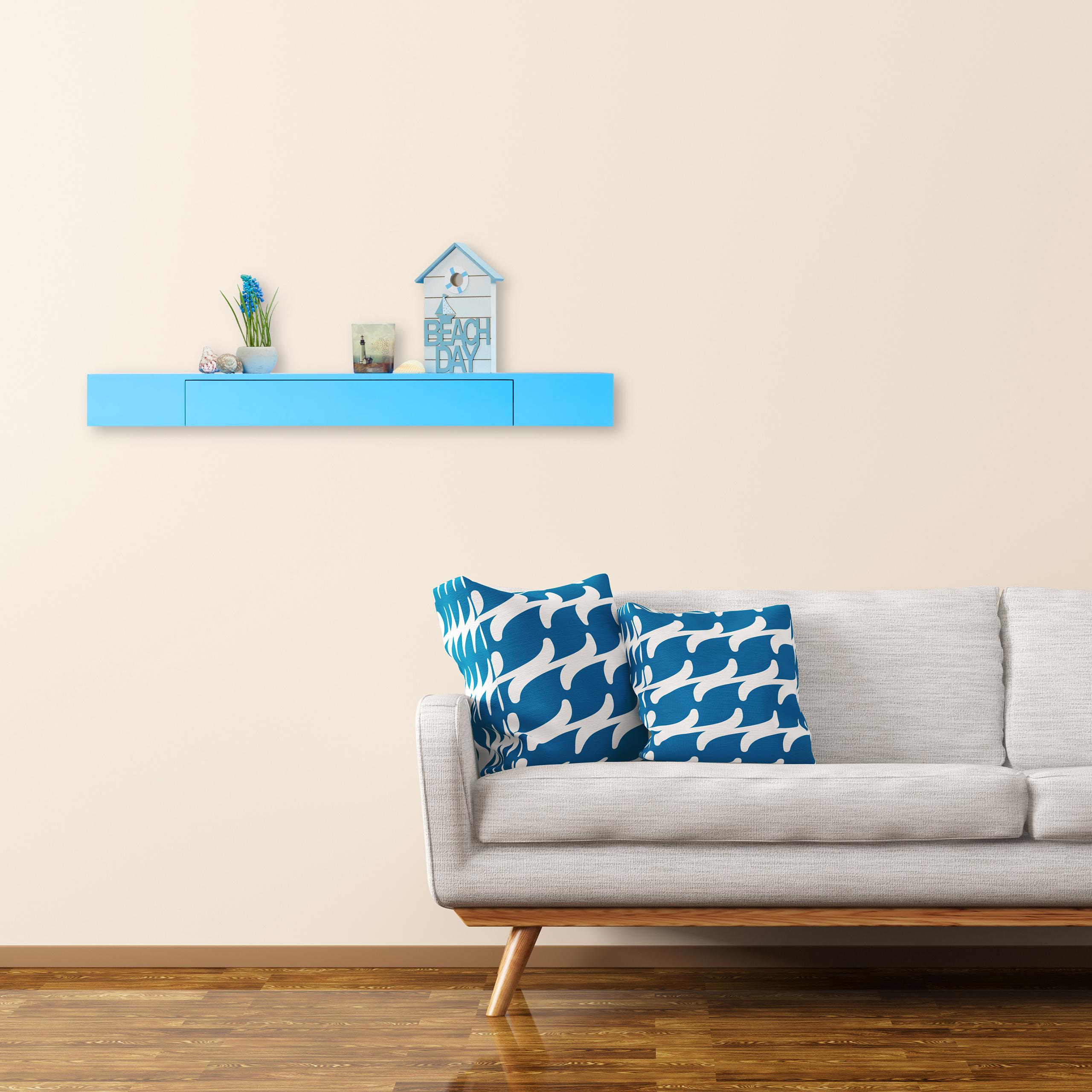 wandregal mit schublade freischwebend design deko wohnzimmer modern ablage ebay. Black Bedroom Furniture Sets. Home Design Ideas