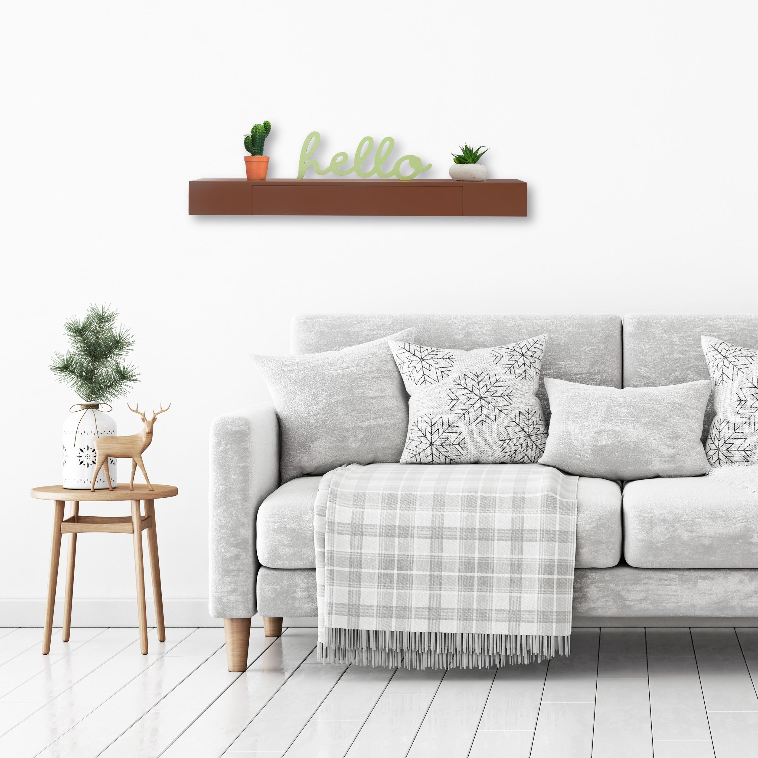 Wandregal-mit-Schublade-freischwebend-Design-Deko-Wohnzimmer-modern-Ablage Indexbild 24