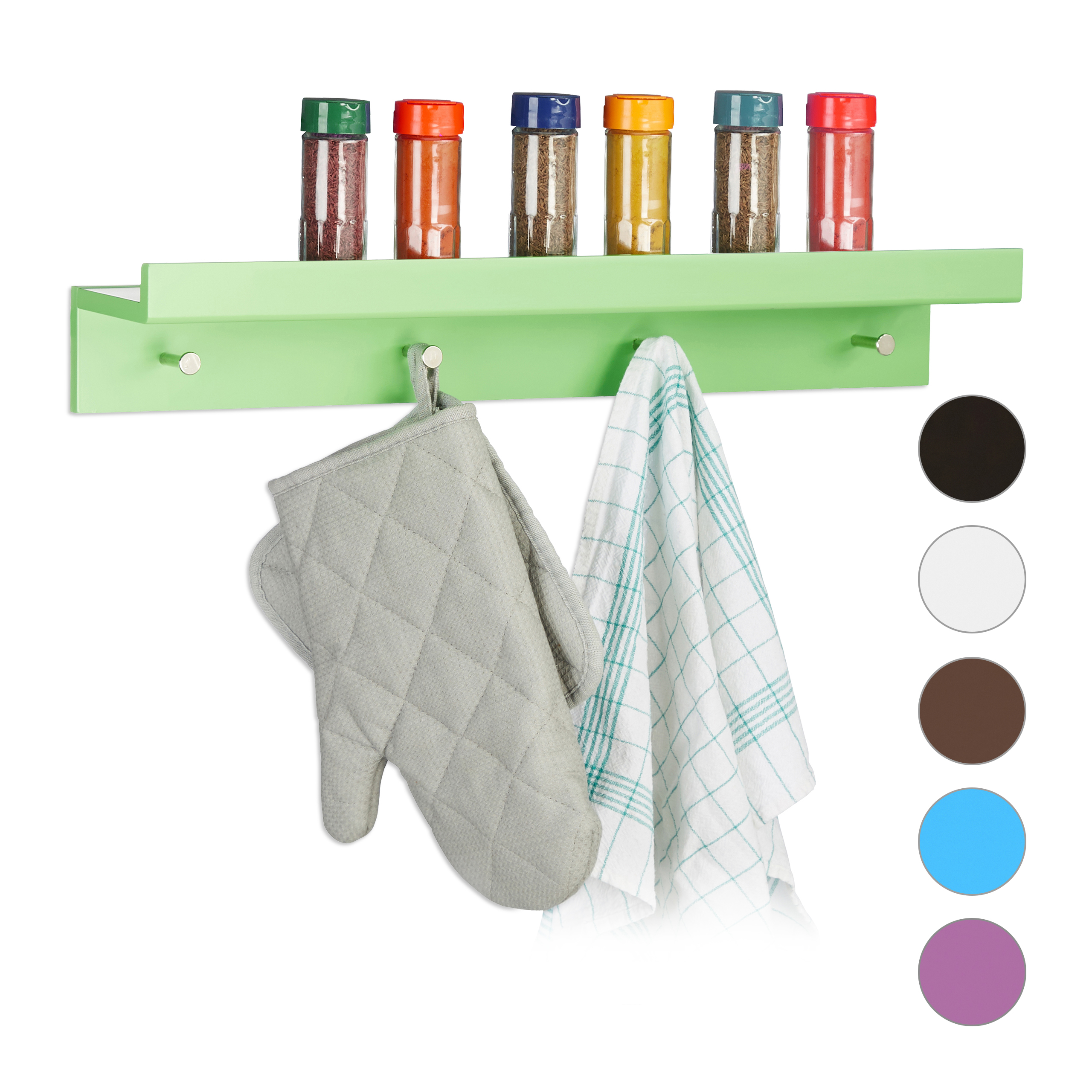 Détails sur Patère murale étagère porte-manteaux tablette rangement crochet  tablette clés