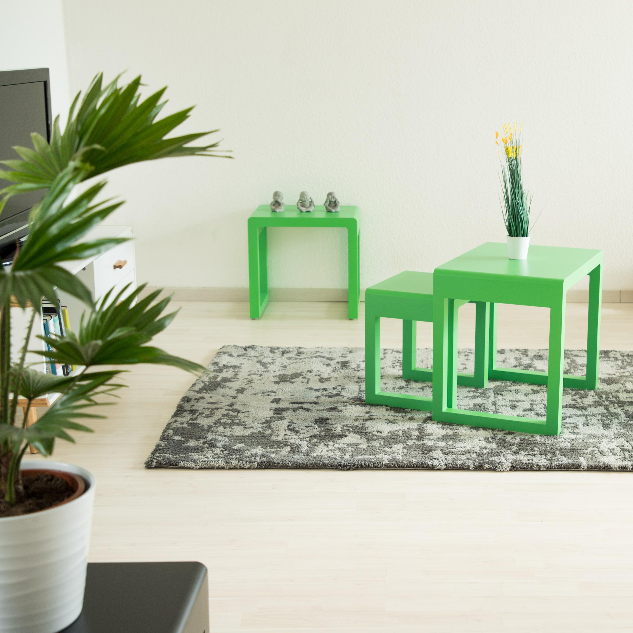 satztisch 3er set beistelltisch stapelbar holztisch lackiert wohnzimmertisch ebay. Black Bedroom Furniture Sets. Home Design Ideas