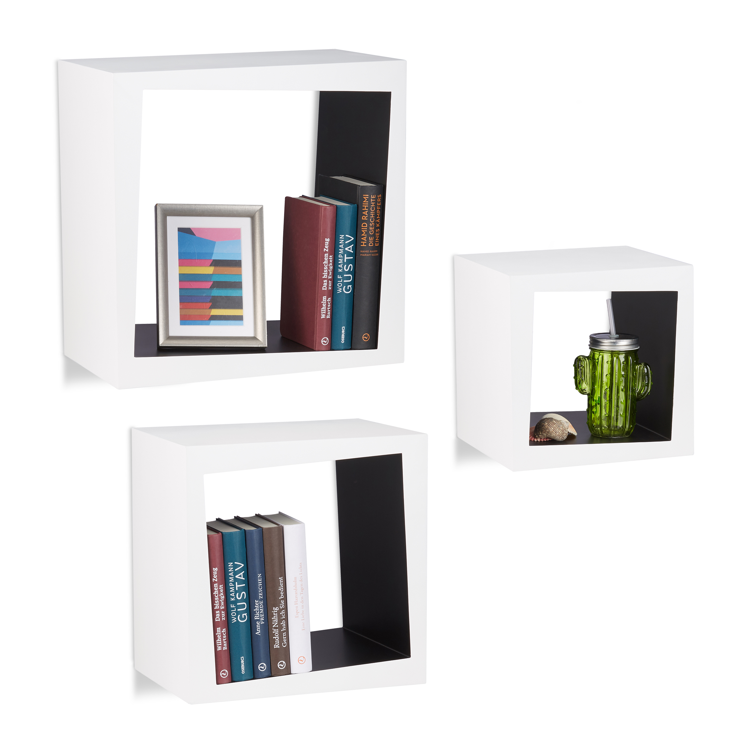 regal zum aufh ngen kinderzimmer cube 25 cm tiefe cd regal deko b cher mdf regal ebay. Black Bedroom Furniture Sets. Home Design Ideas