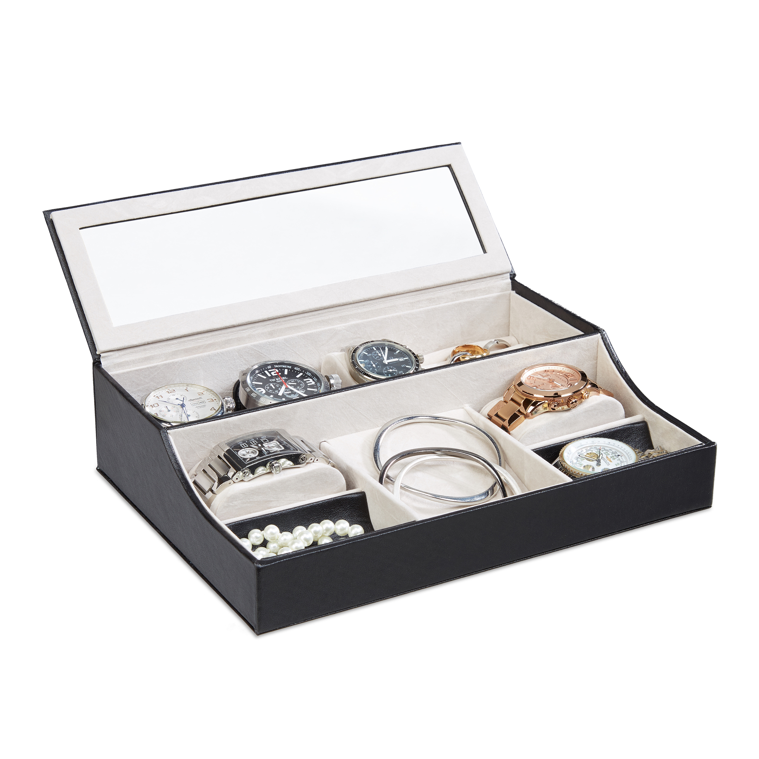 Small-Velvet-Jewellery-Box-Jewelry-Chest-Watch-Display-Case