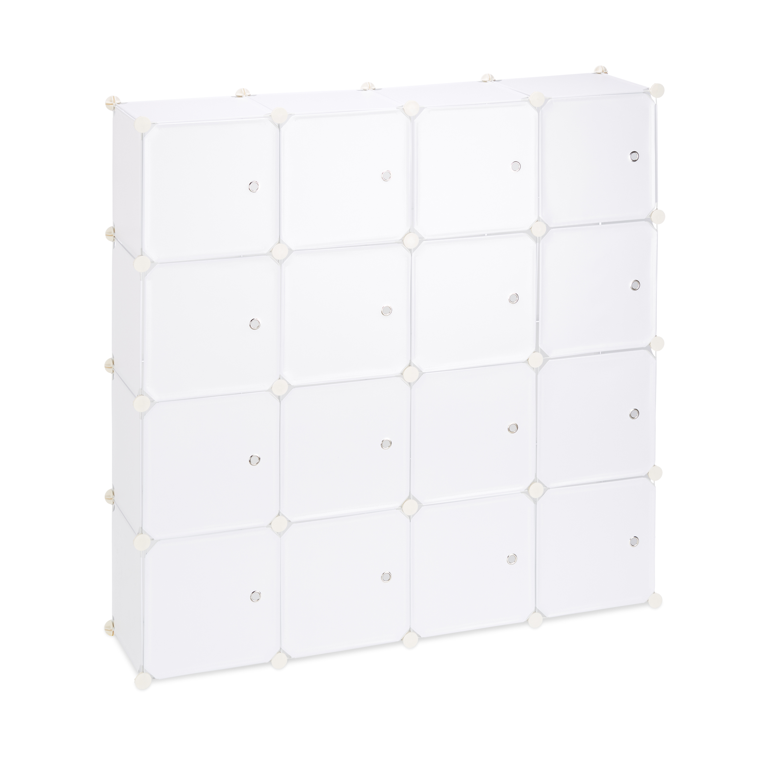 Boltless-Plastic-with-16-Compartments-Shelving-System-DIY-with-doors-Plastic-Cabinet thumbnail 18