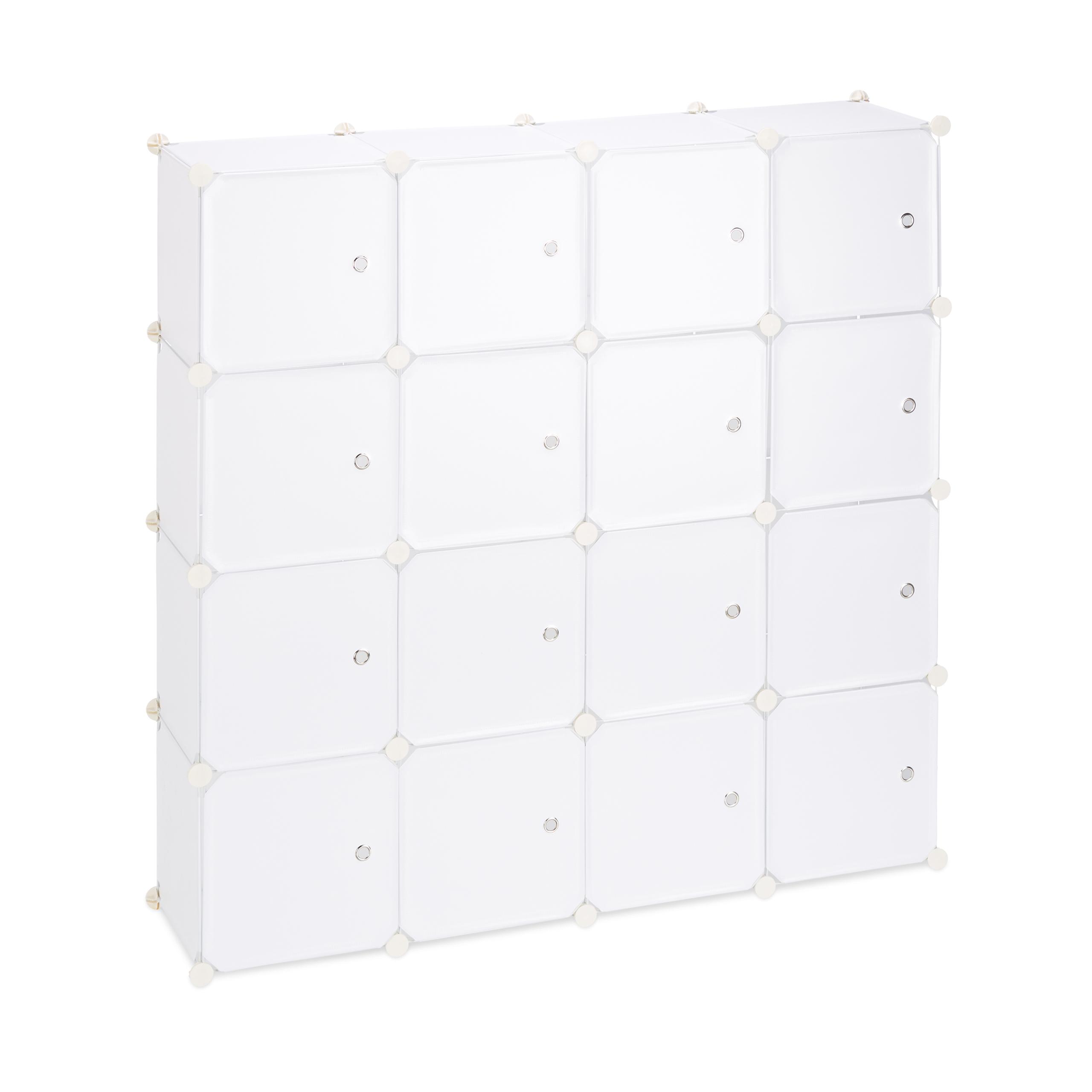 Steckregal Kunststoff Mit Türen 16 Fächer Regalsystem Diy