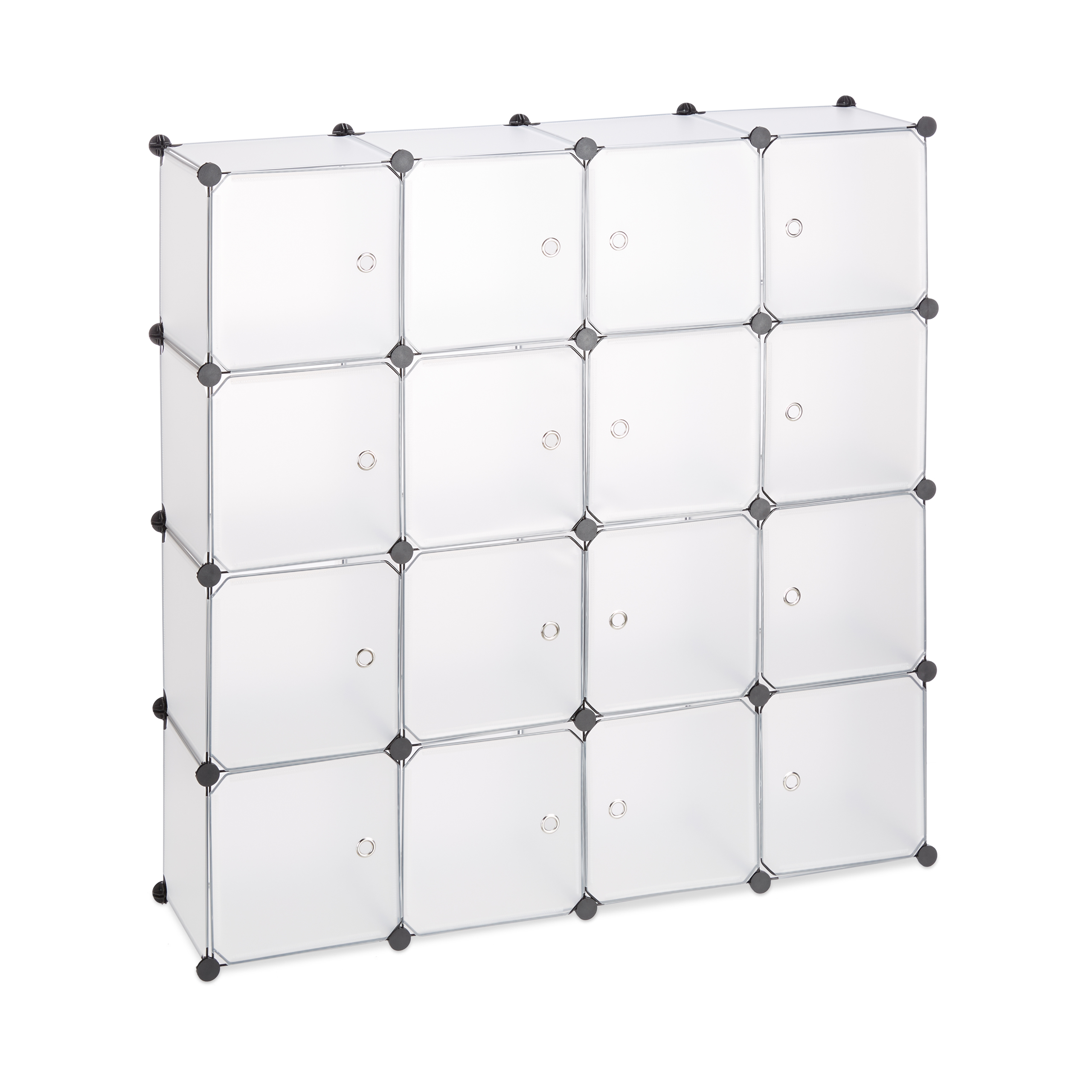 Boltless-Plastic-with-16-Compartments-Shelving-System-DIY-with-doors-Plastic-Cabinet thumbnail 11