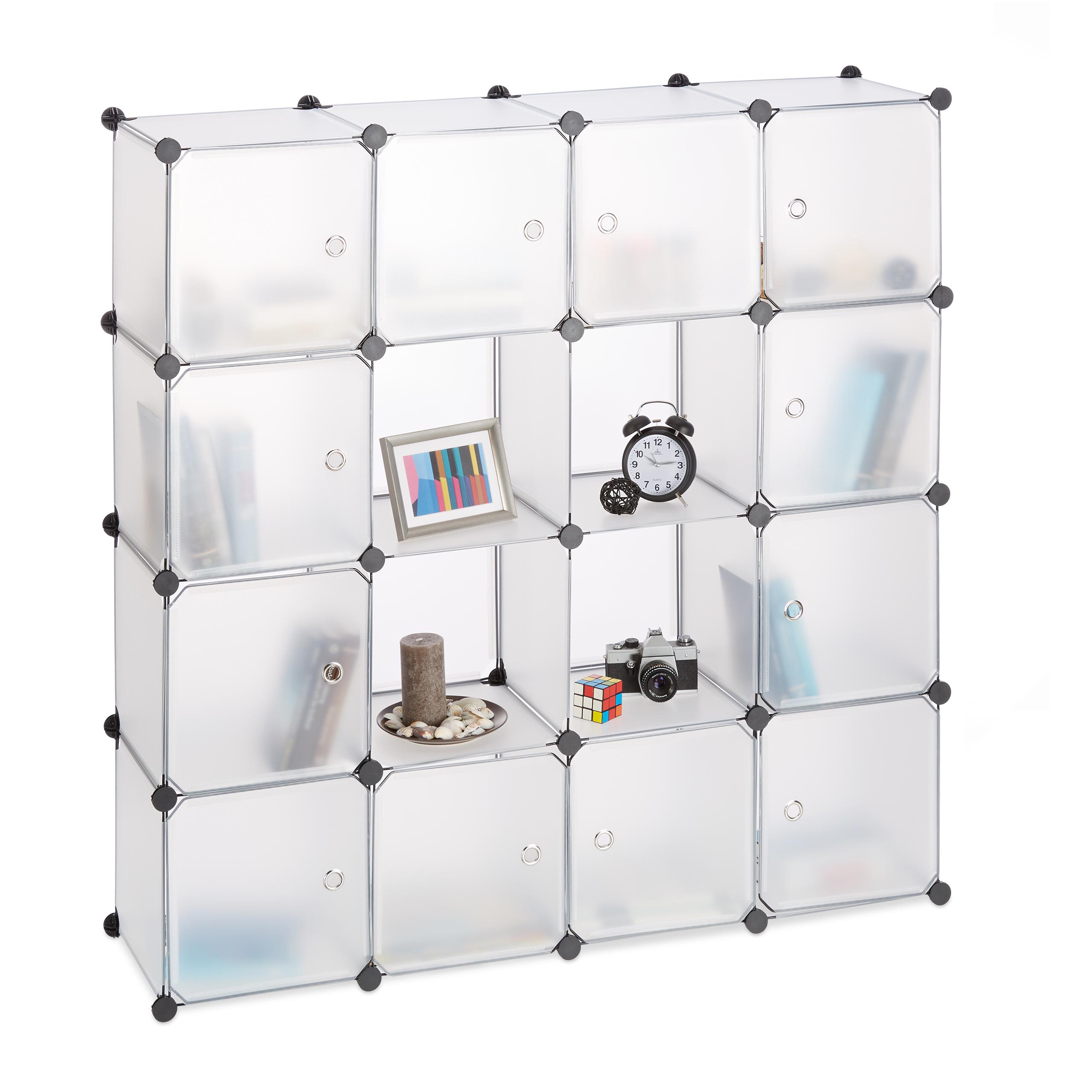 Estanteria-modular-grande-con-16-compartimentos-De-plastico-Varios-colores