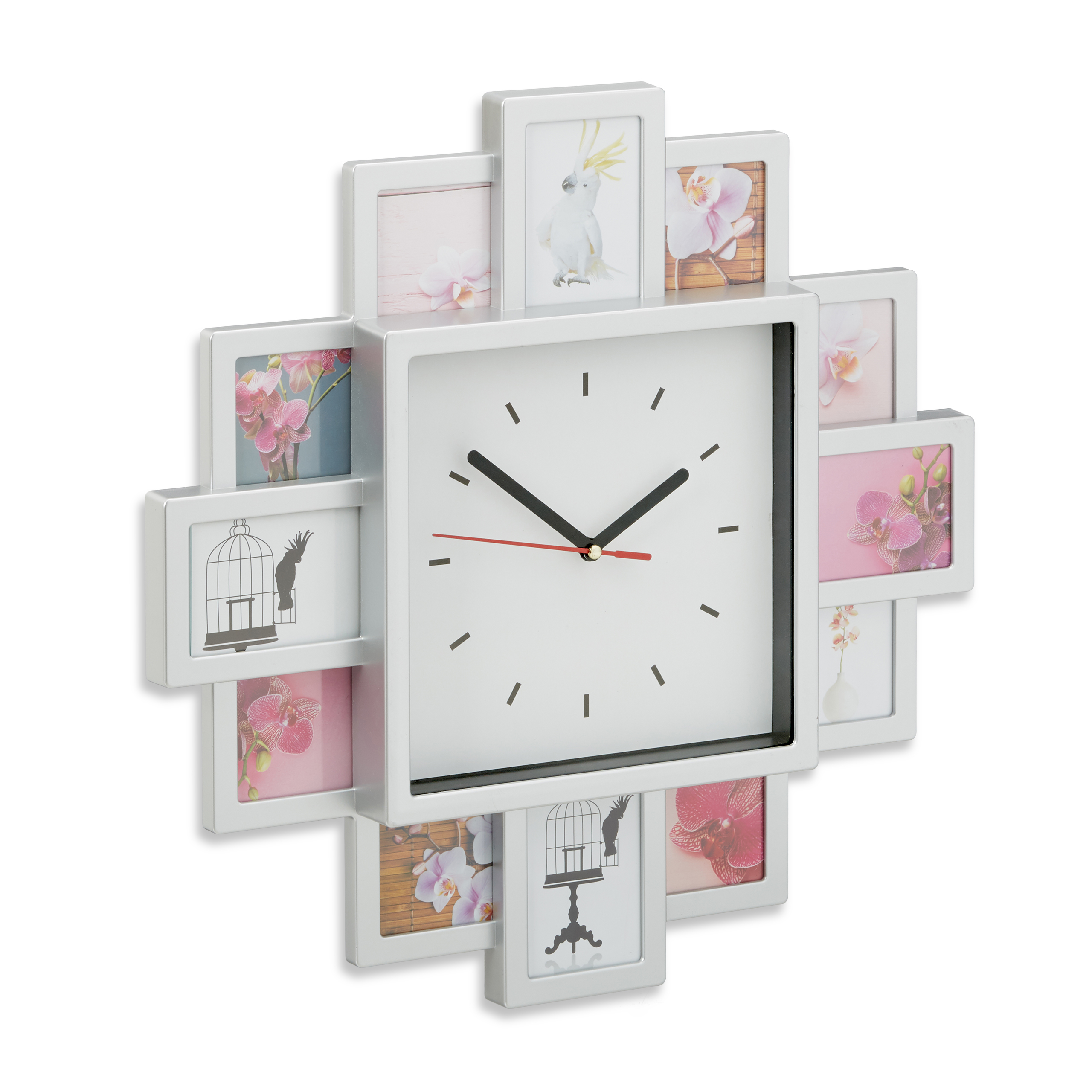 Wall-Clock-with-Picture-Frames-Photo-Clock-DIY-Kit-Standard-Analogue-Clock