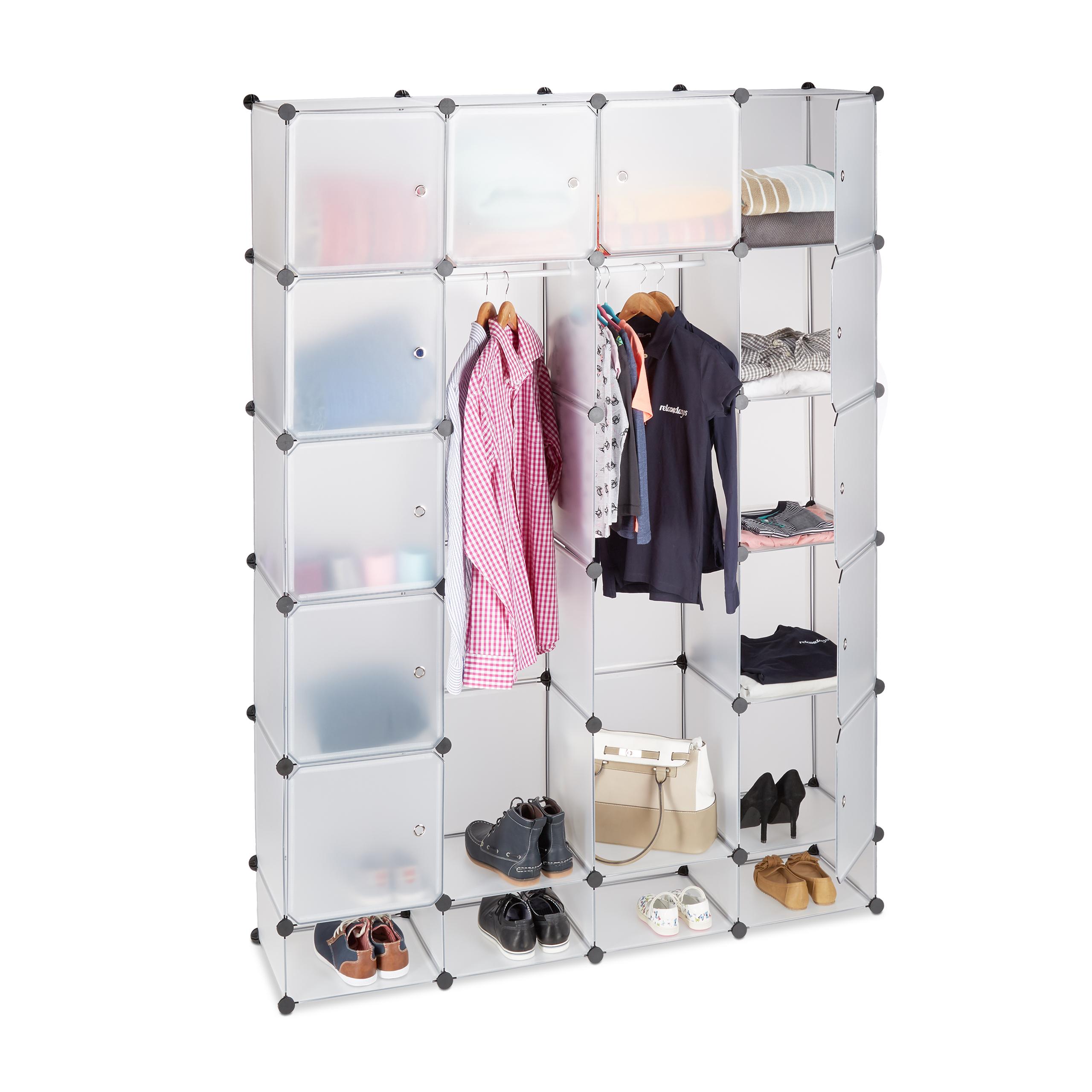 kleiderschrank xxl stecksystem kunststoffschrank garderobe 18 fächer