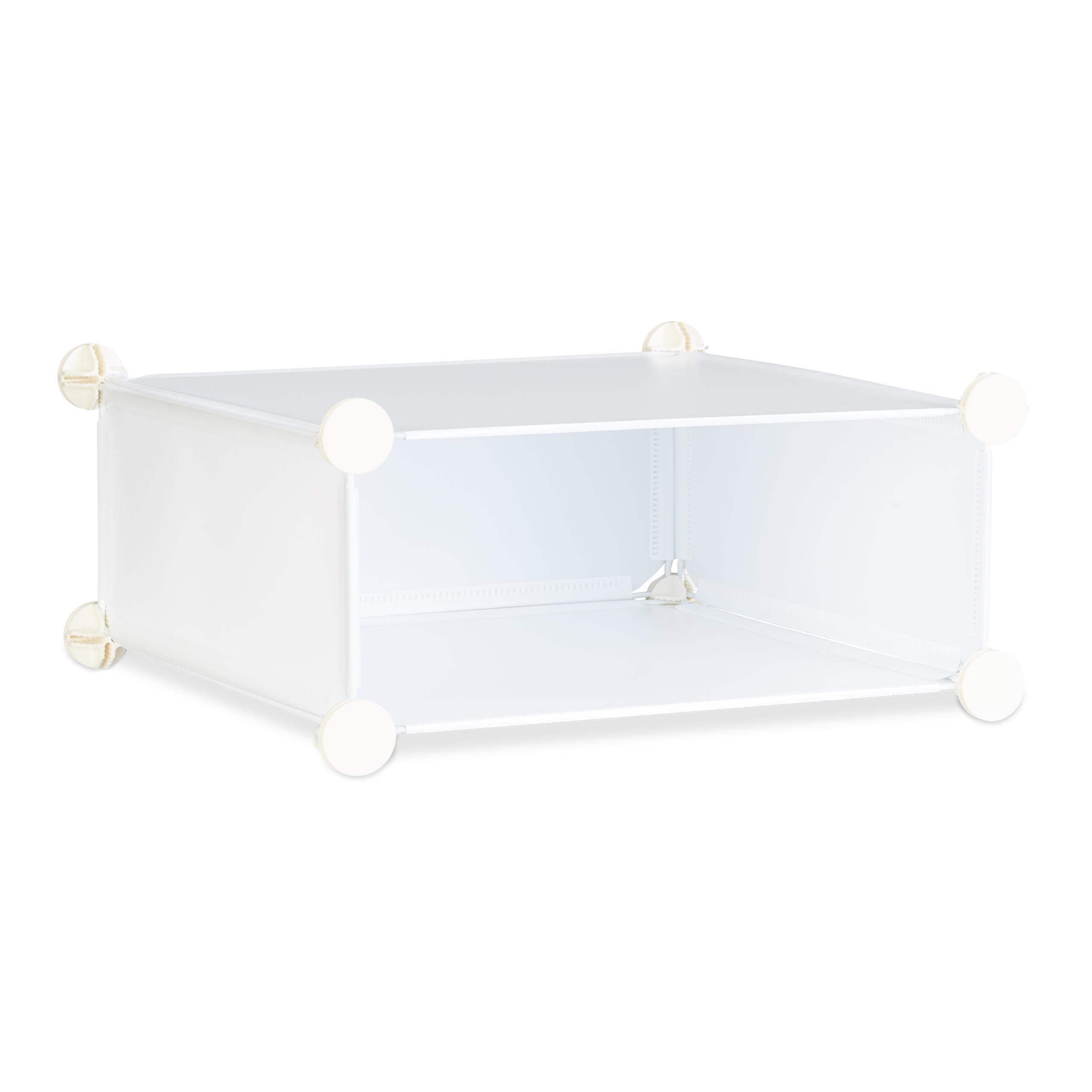 schuhschrank 10 f cher schuhregal gro regalsystem mit t ren steckregal diy xxl ebay. Black Bedroom Furniture Sets. Home Design Ideas