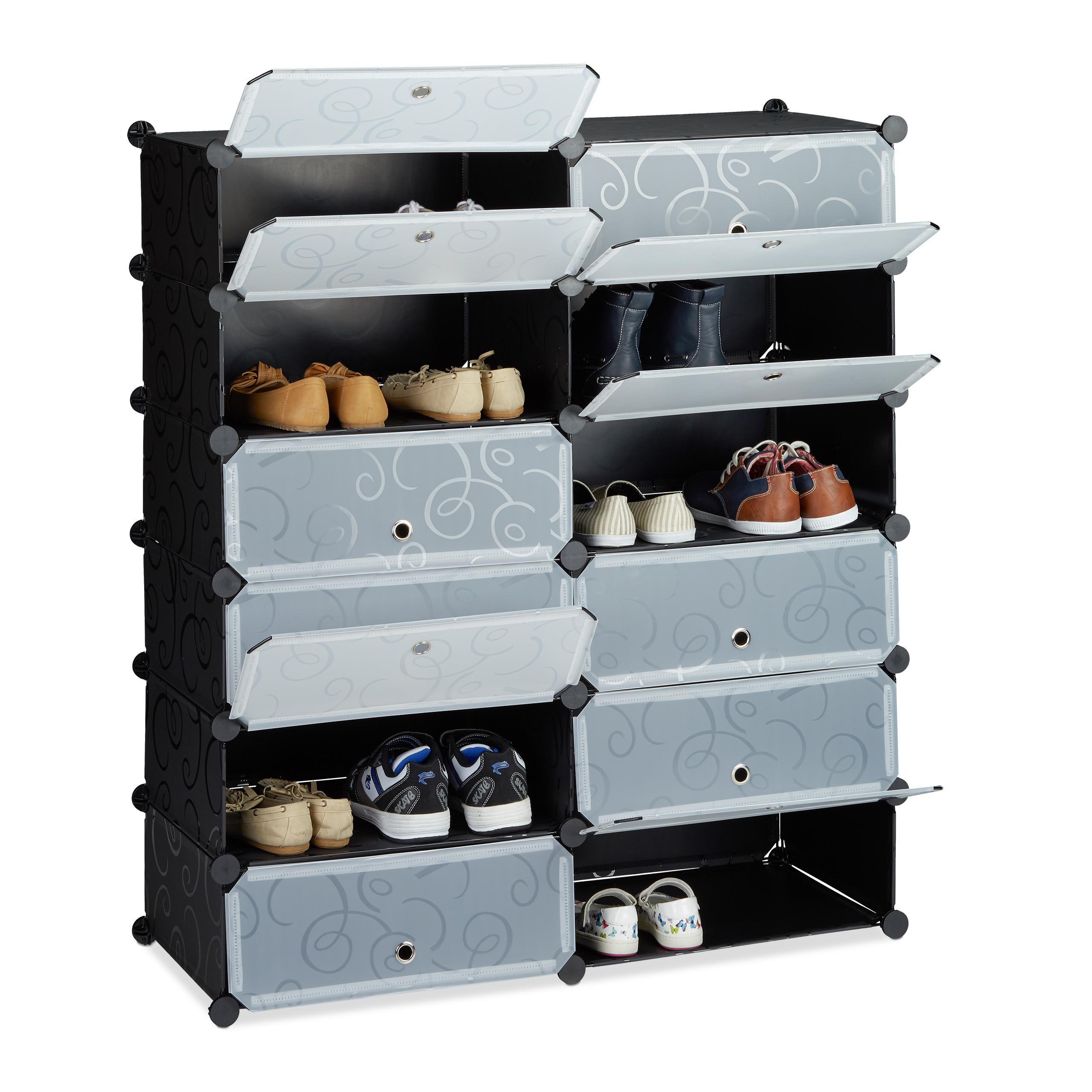 Scarpiera armadio con 12 scomparti, scaffale componibile ad incastro ...
