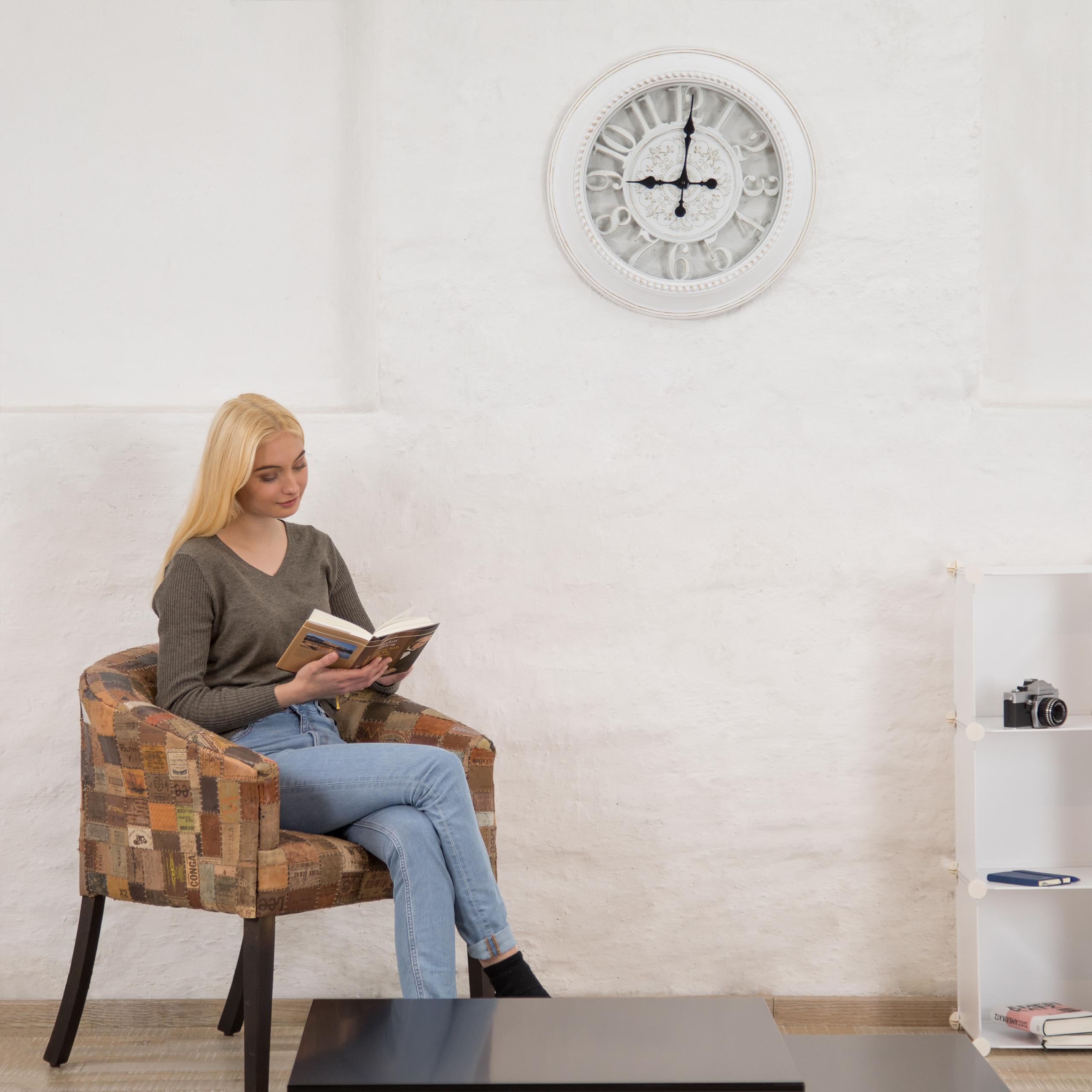 wanduhr xl rund k chenuhr batteriebetrieben analoguhr. Black Bedroom Furniture Sets. Home Design Ideas