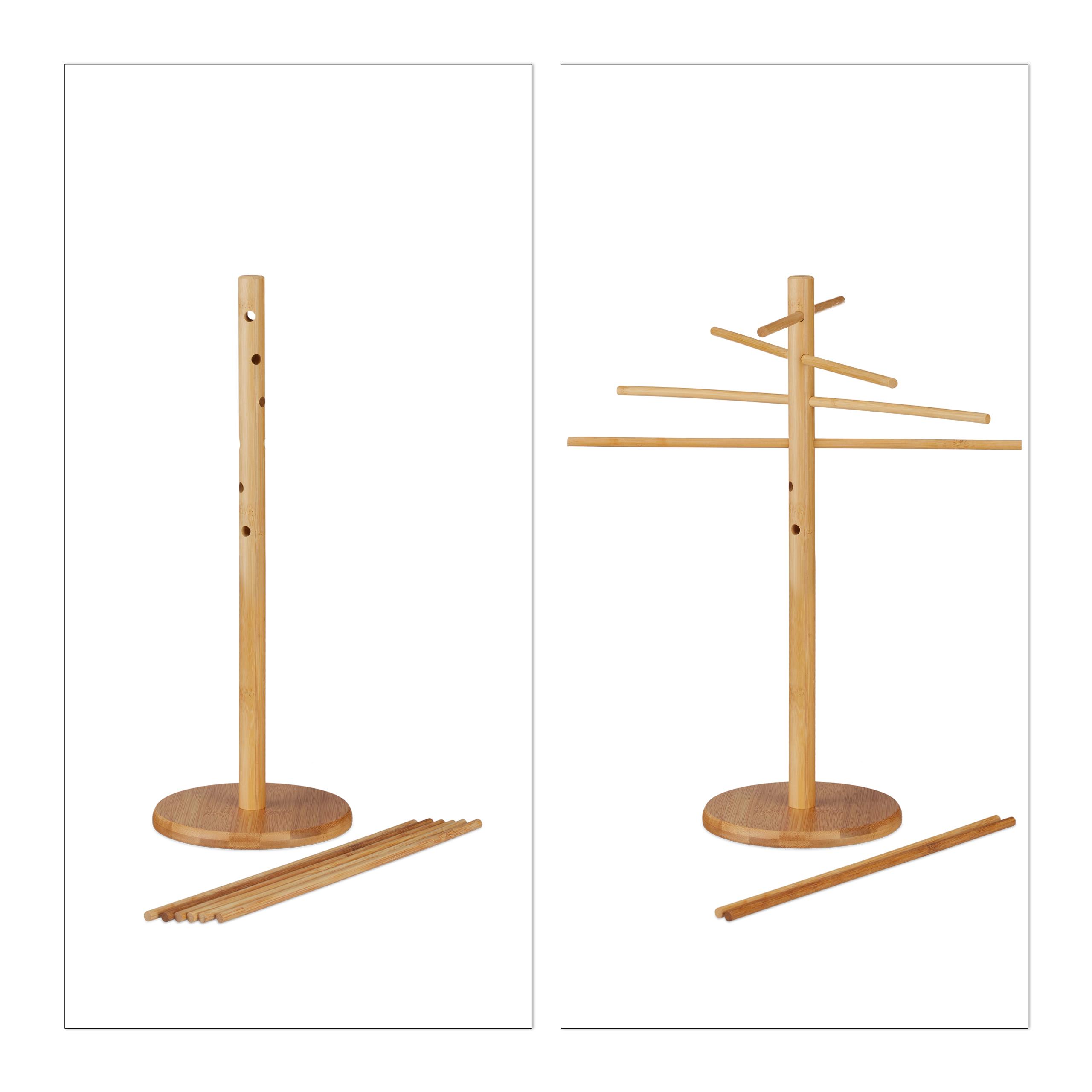 nudeltrockner nudelst nder natur pastatrockner holz 12 arme abnehmbar trocknen ebay. Black Bedroom Furniture Sets. Home Design Ideas