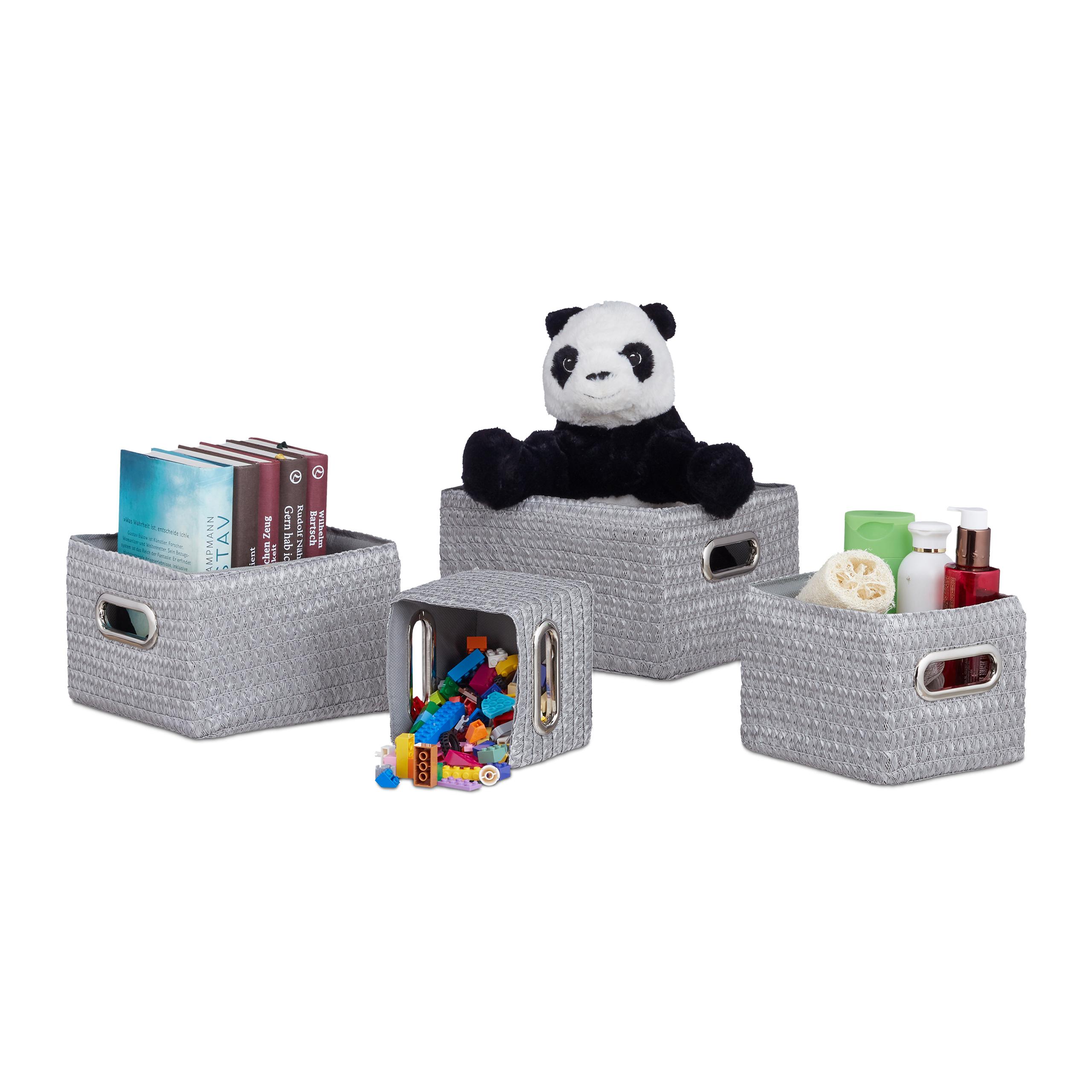Juego-de-cestas-almacenaje-4-cestos-grandes-de-plastico-Sin-tapa-Decorativo