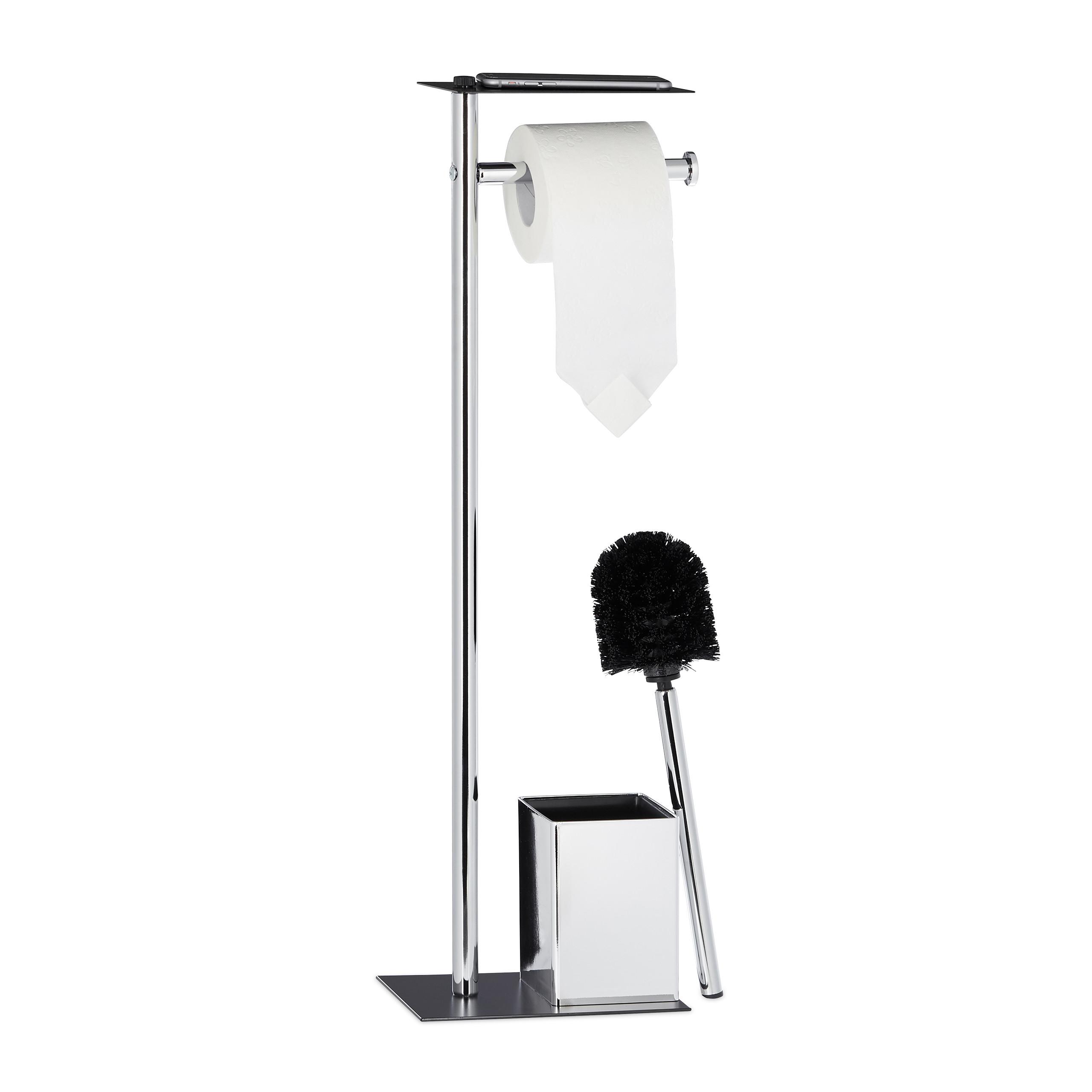 wc garnitur mit ablage toilettenpapierhalter toilettenb rste klob rstenhalter ebay. Black Bedroom Furniture Sets. Home Design Ideas