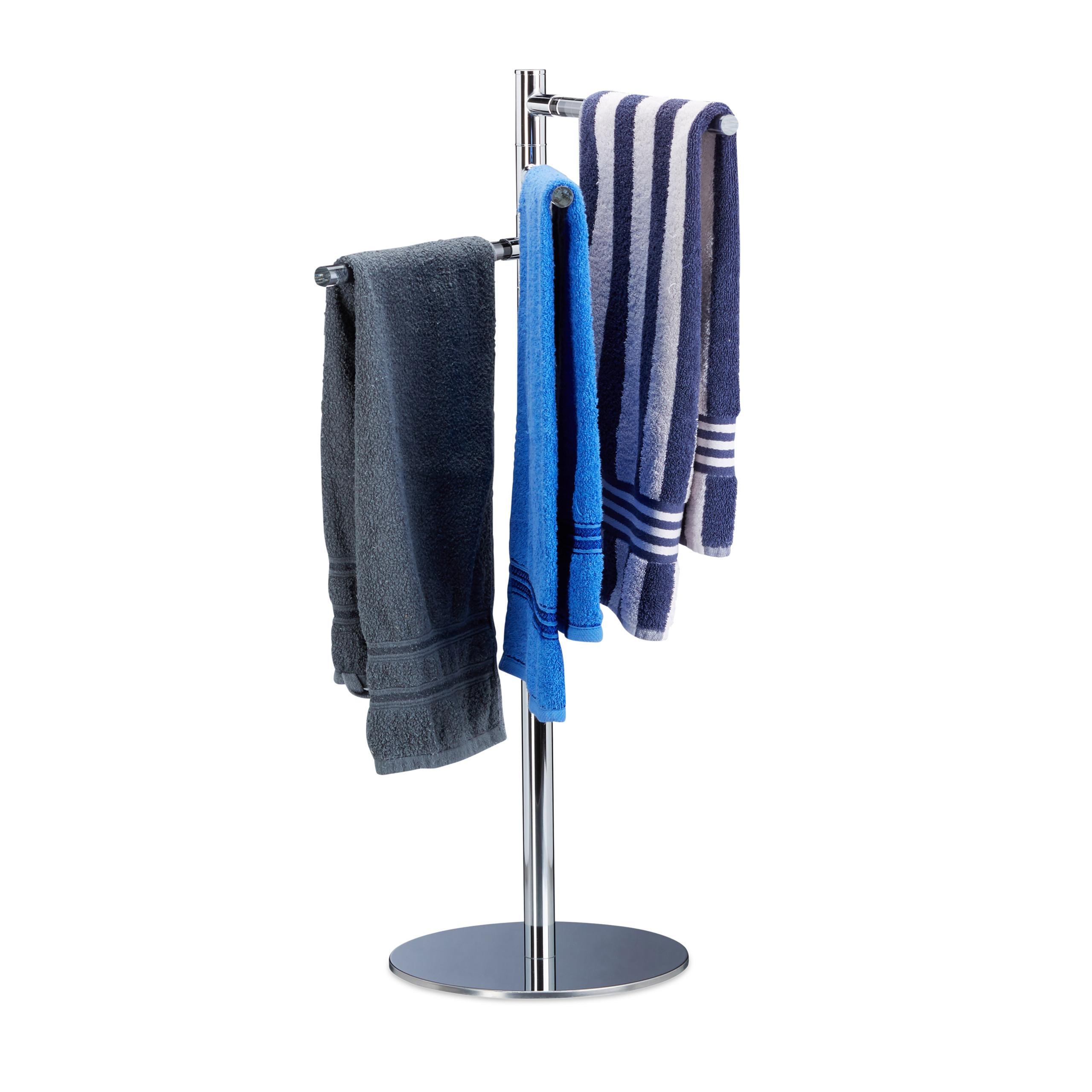 handtuchhalter freistehend standhandtuchhalter badetuchhalter handtuchst nder ebay. Black Bedroom Furniture Sets. Home Design Ideas