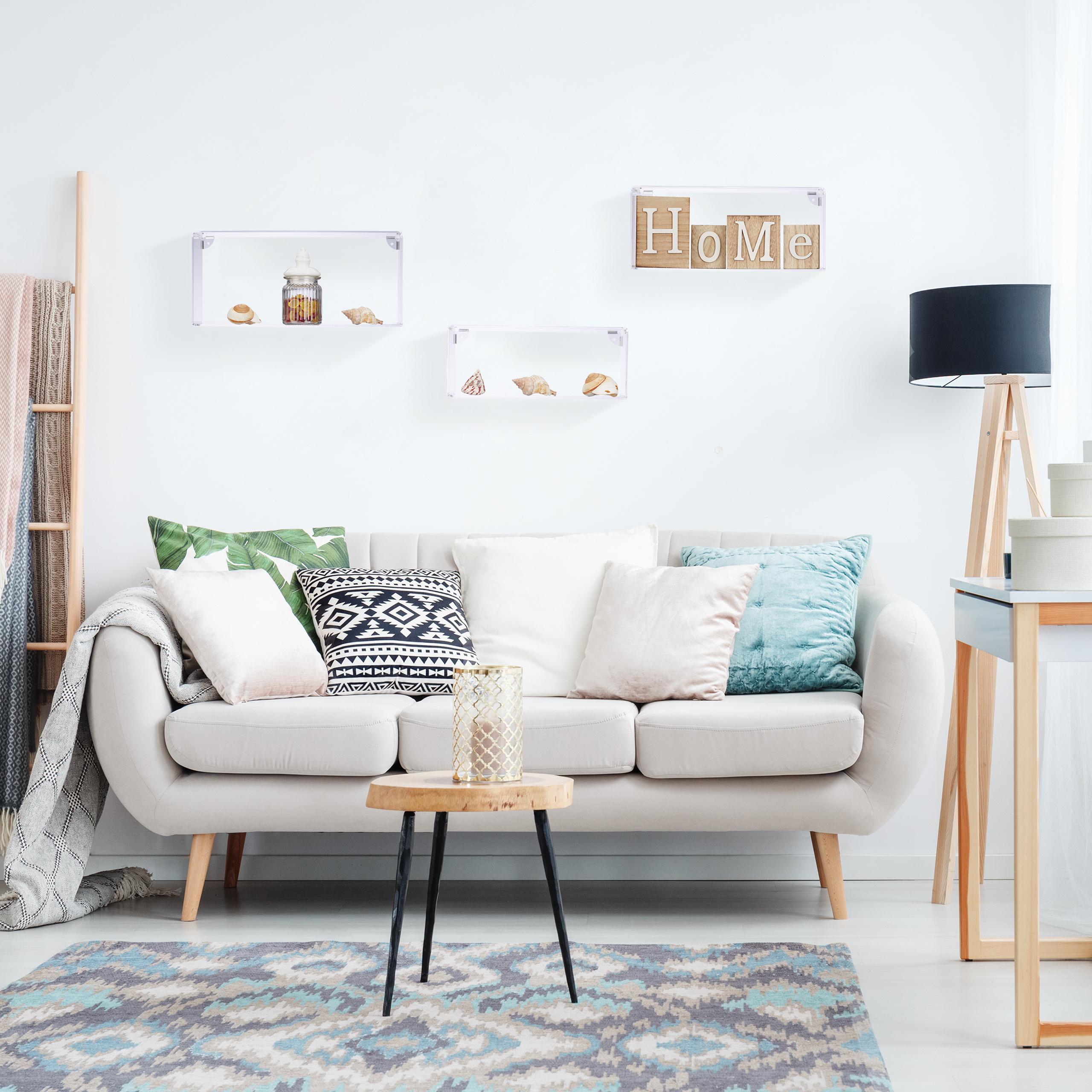 wandregal acryl 3er set wandboard h ngeregal wandablage. Black Bedroom Furniture Sets. Home Design Ideas