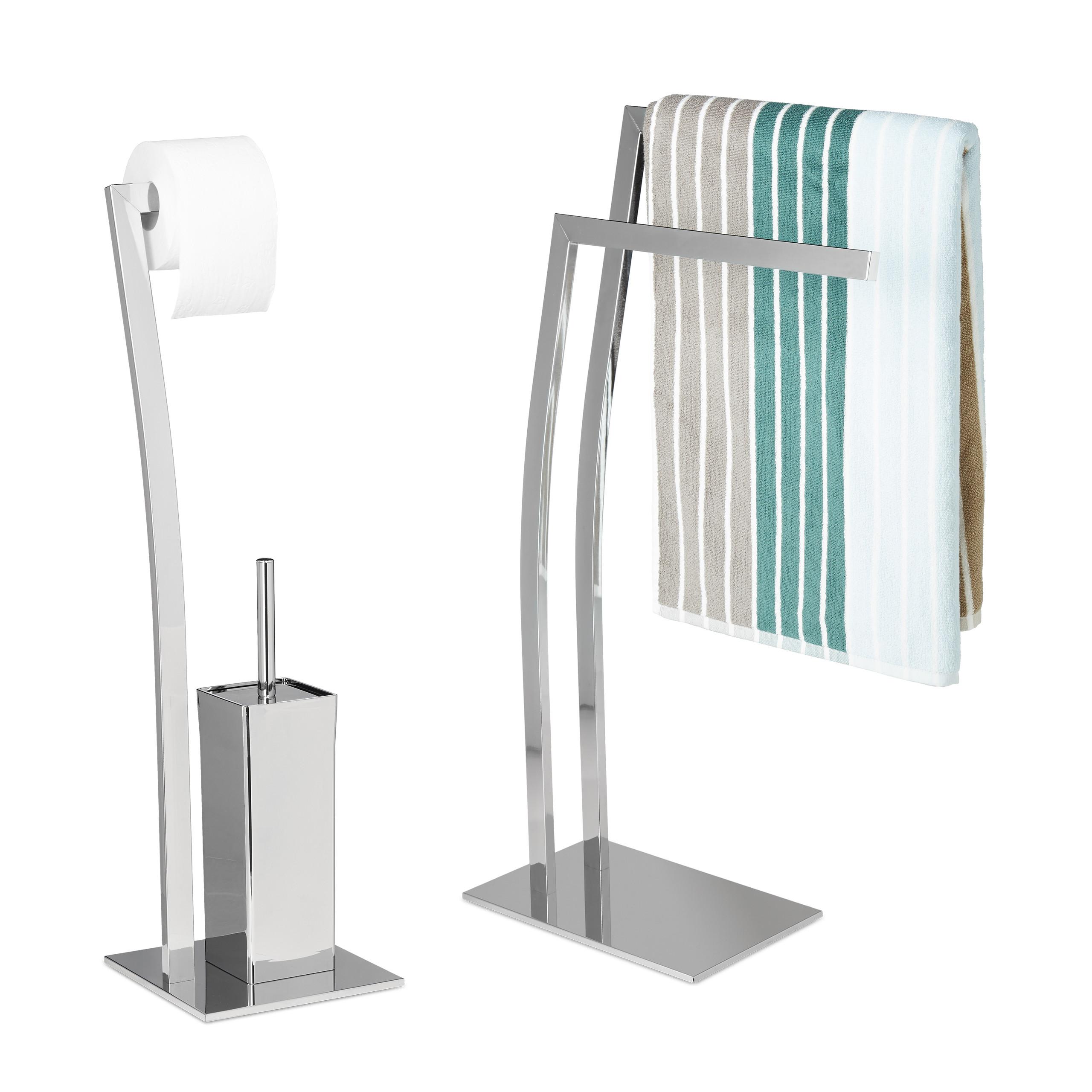 2 tlg Badezimmer Set WIMEDO Toilettenpapierhalter WC
