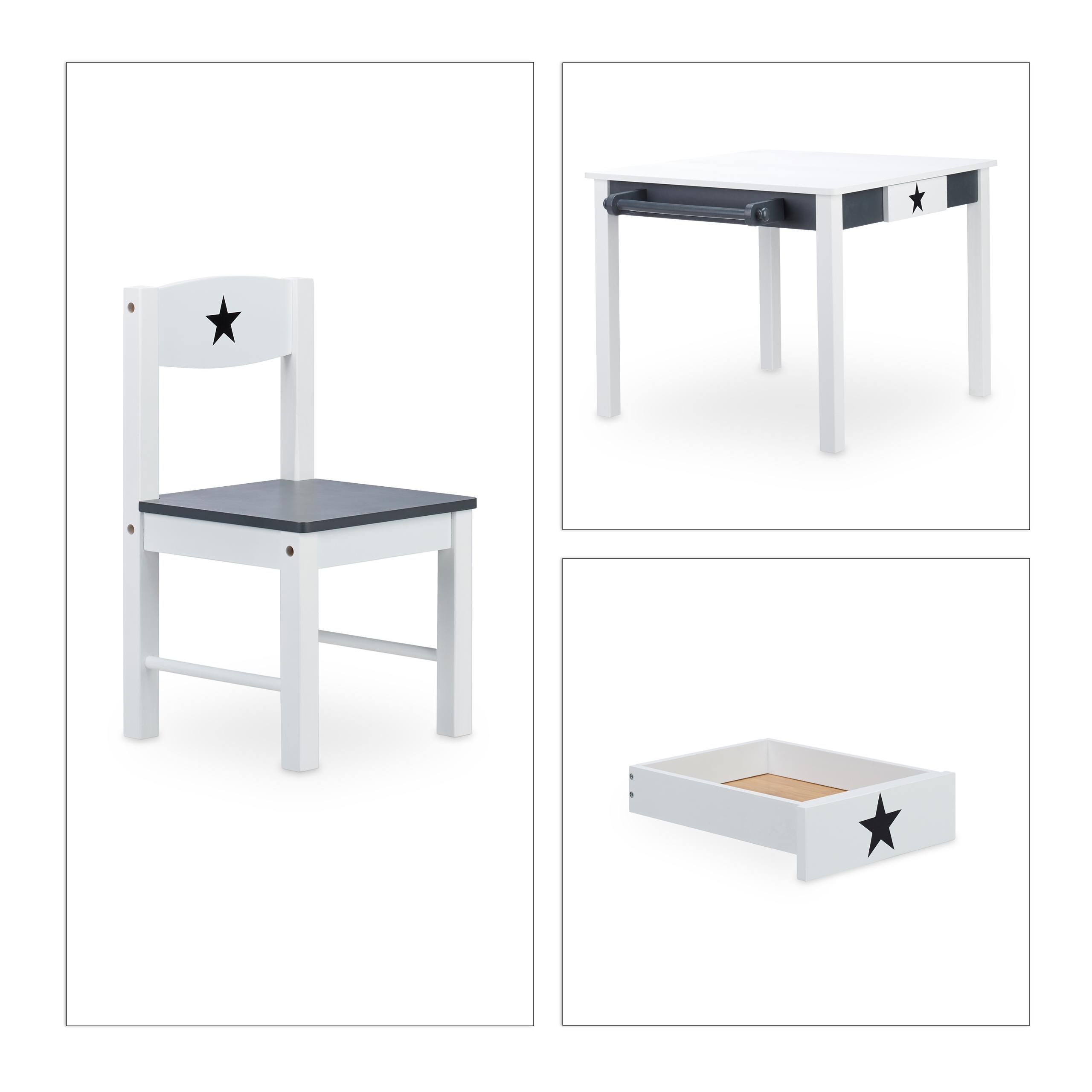 Kindersitzgruppe STAR Holz Kindertisch M Stühlen