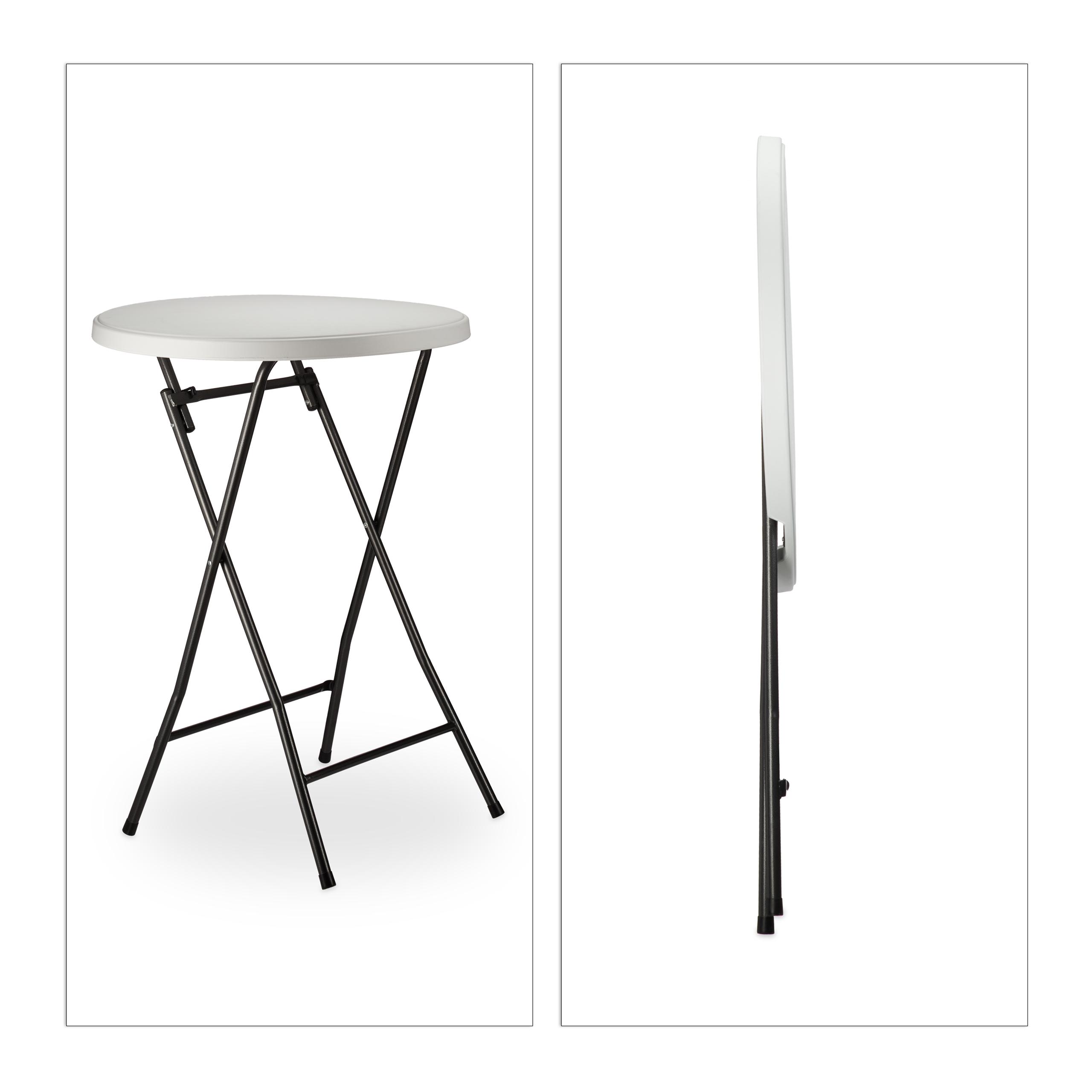 stehtisch klappbar rund aus kunsstoff bistrotisch hxd 110 x 80 cm wei ebay. Black Bedroom Furniture Sets. Home Design Ideas