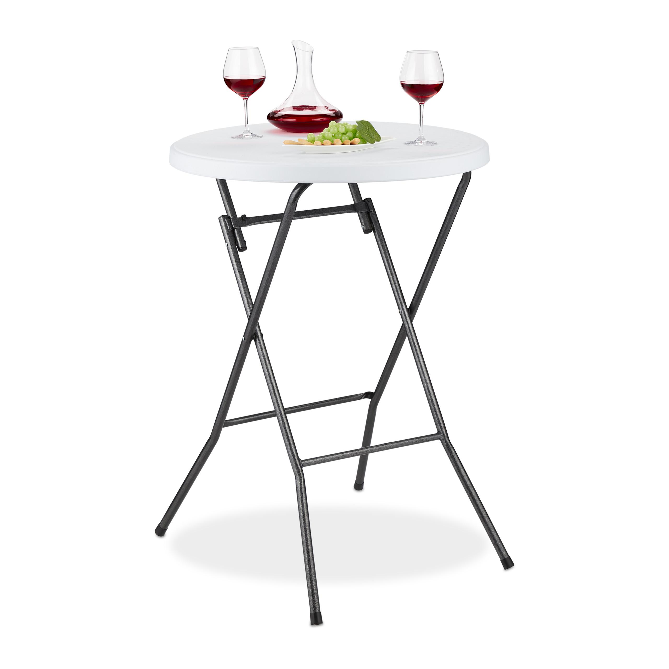 table haute pliante ronde en plastique table de bistrot. Black Bedroom Furniture Sets. Home Design Ideas
