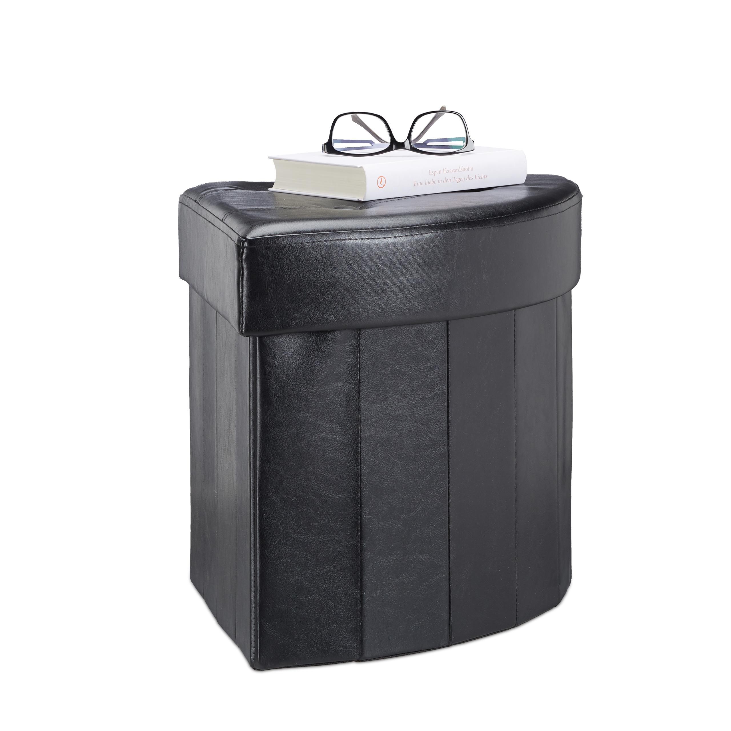 Hocker Eckig Sitzhocker Mit Stauraum Aufbewahrungsbox Eckhocker