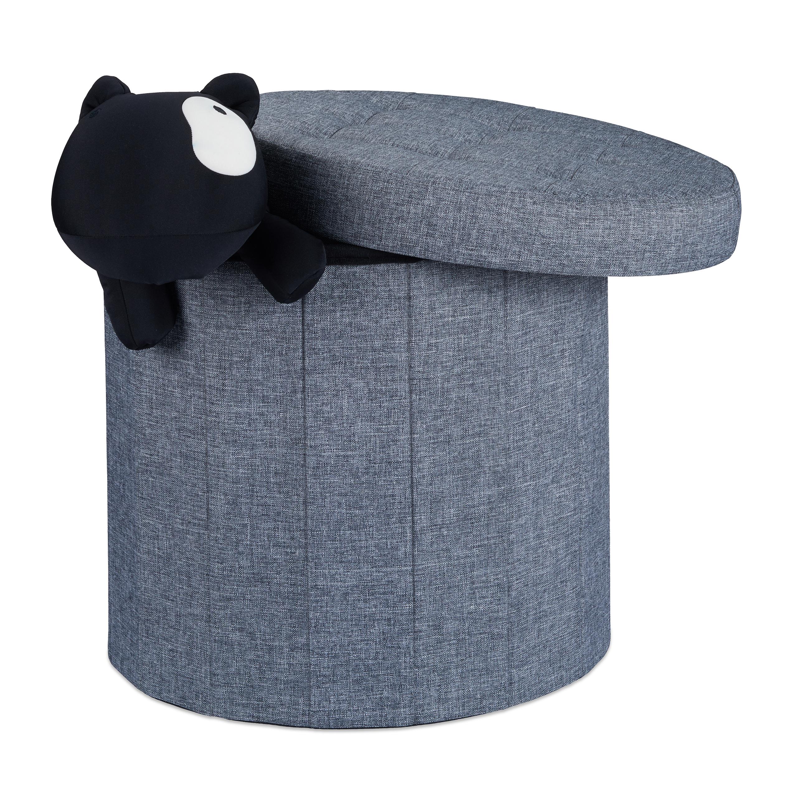Brilliant Polsterhocker Mit Stauraum Beste Wahl Sitzhocker-mit-stauraum-groesse-l-rund-fusshocker-fussablage-