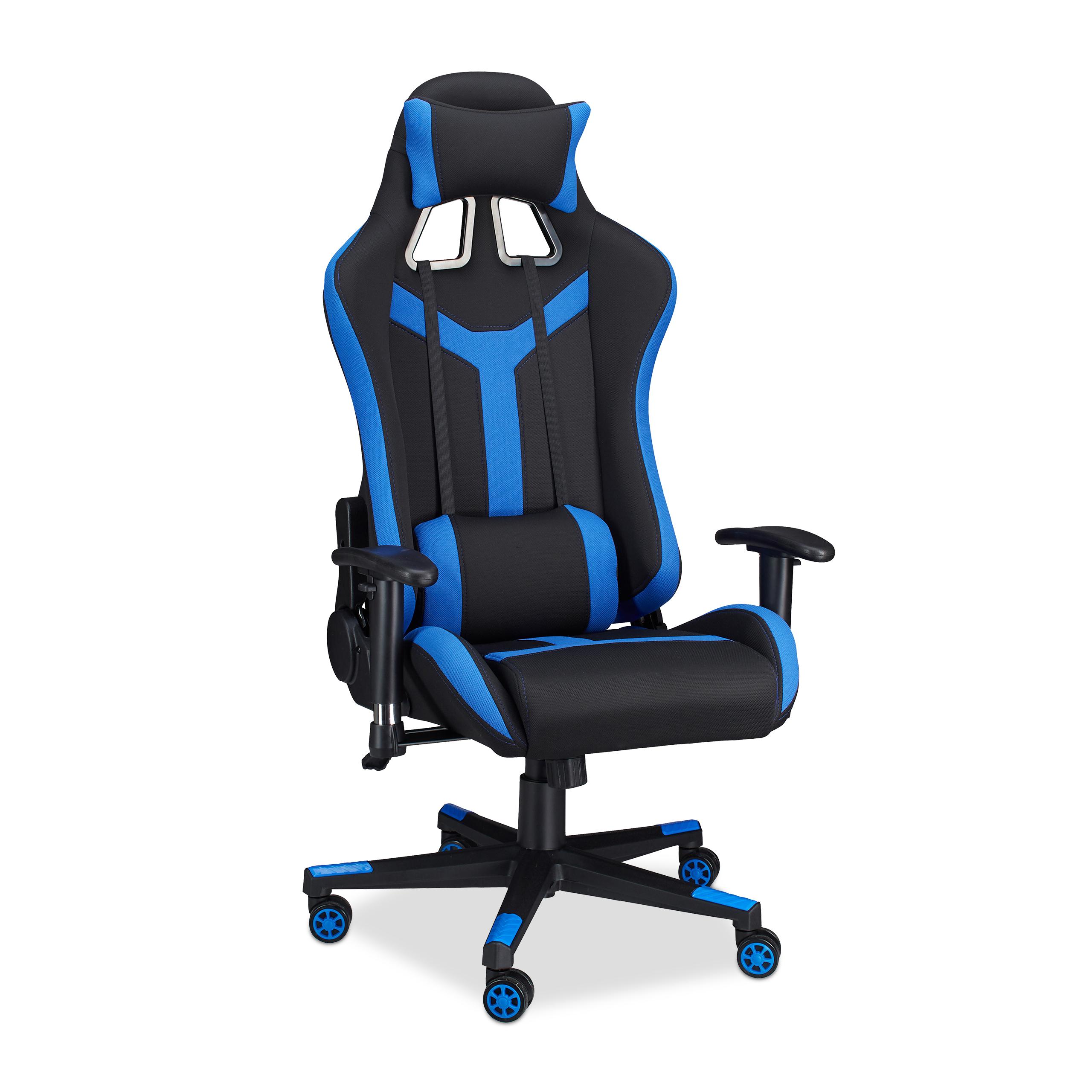 Gaming stuhl xr10 b rostuhl bis 120kg gamer chair verstellbar computerstuhl ebay - Gaming stuhl ebay ...