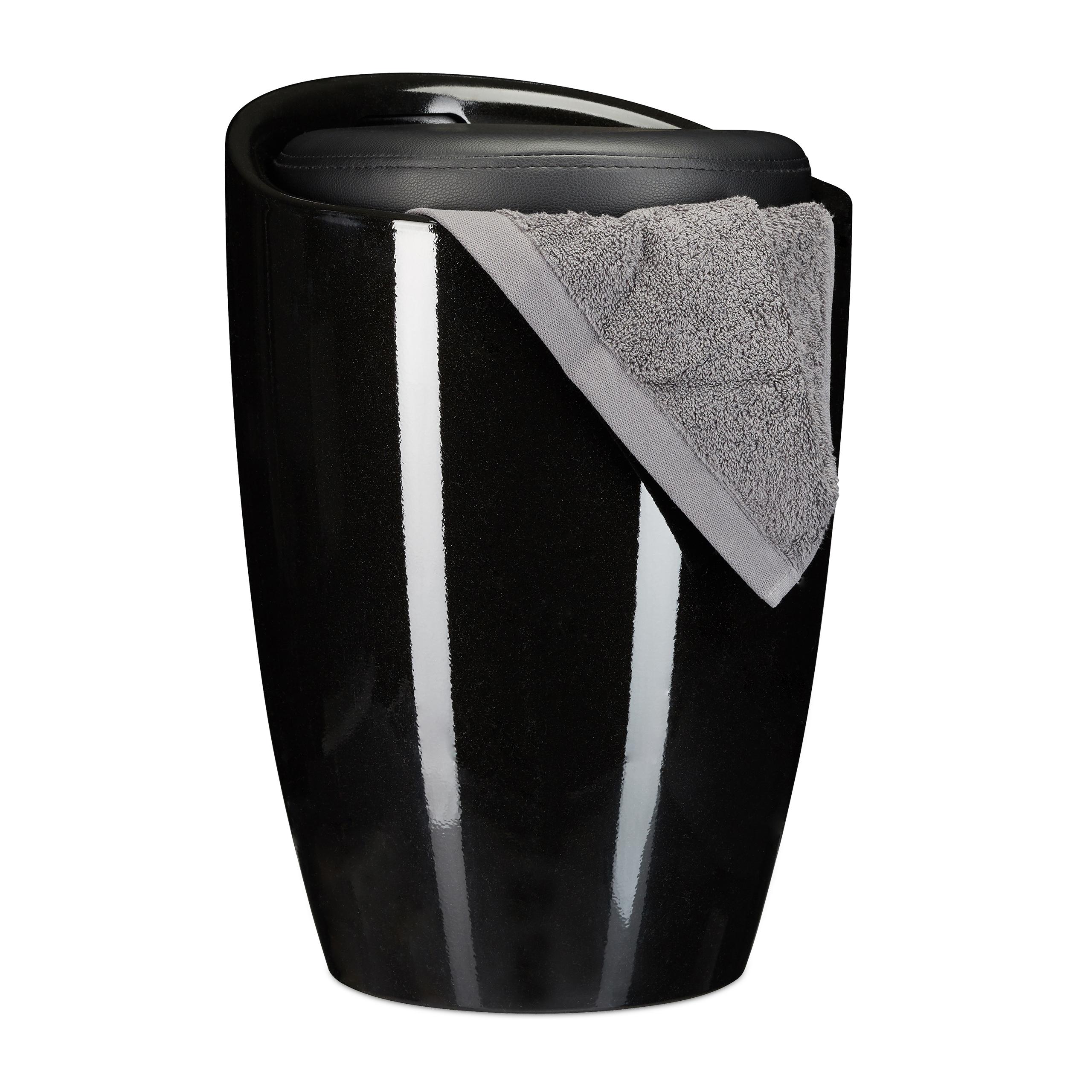 sitzhocker badhocker rund w schekorb w schesammler arbeitshocker mit stauraum ebay. Black Bedroom Furniture Sets. Home Design Ideas