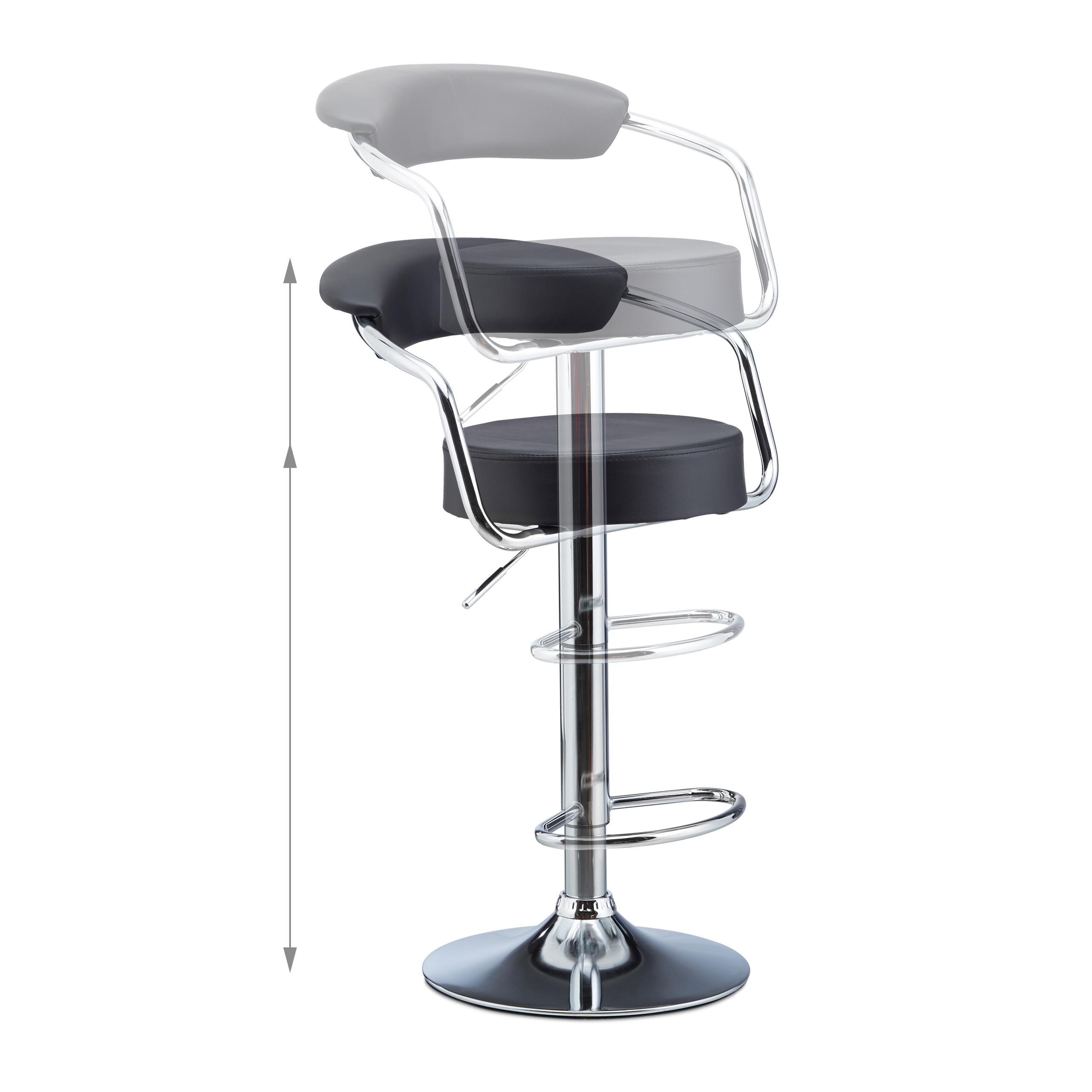 barhocker 2er set barsessel mit lehne barstuhl. Black Bedroom Furniture Sets. Home Design Ideas