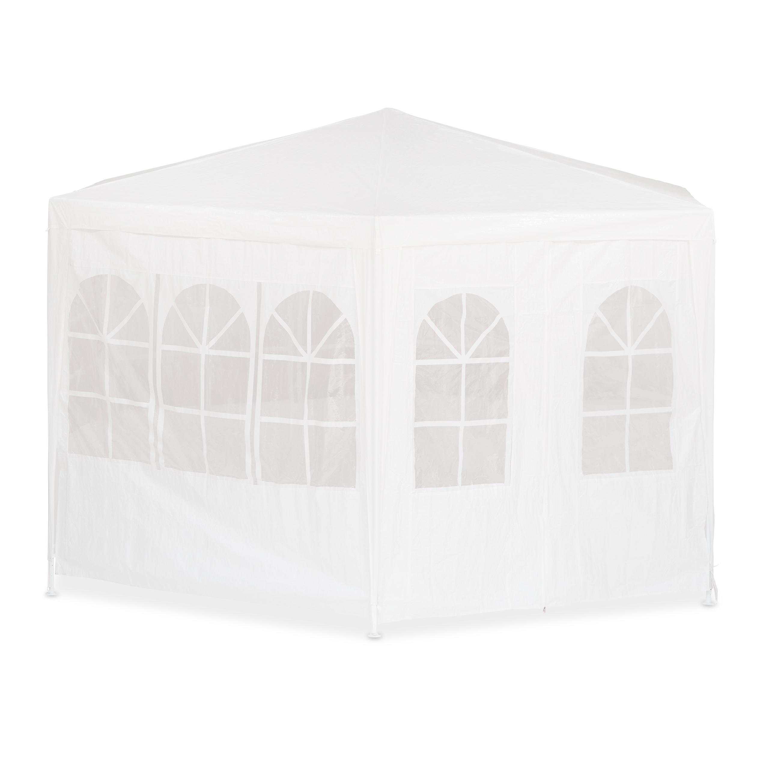 GAZEBO-6-rettangolare-con-pareti-laterali-tendone-della-birra-party-tenda-2x2x2x2-5m-Bianco